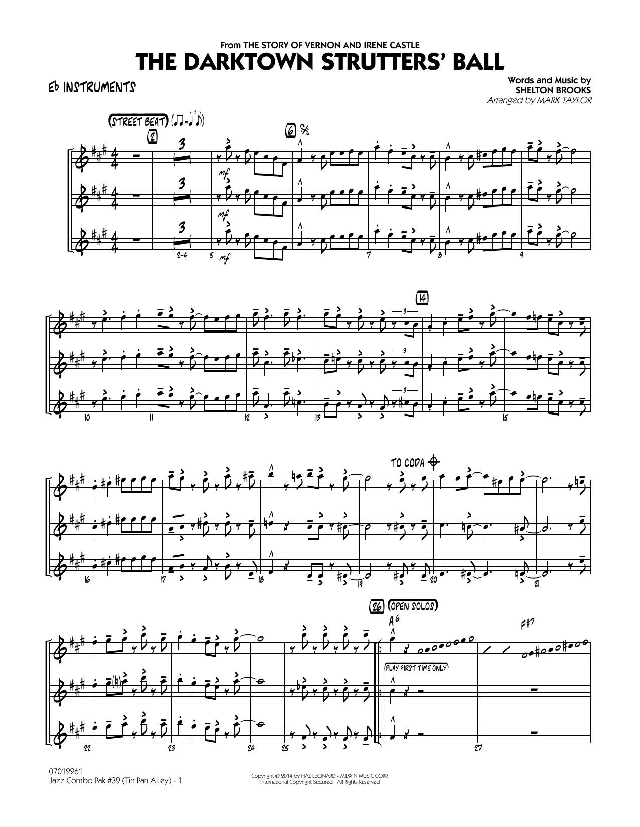 Jazz Combo Pak #39 (Tin Pan Alley) - Eb Instruments (Jazz Ensemble)