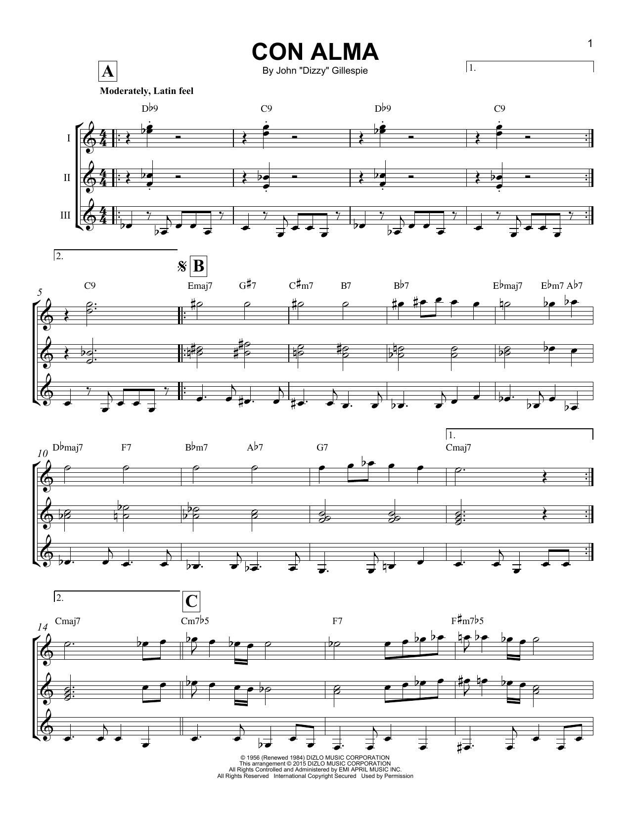 Con Alma Sheet Music