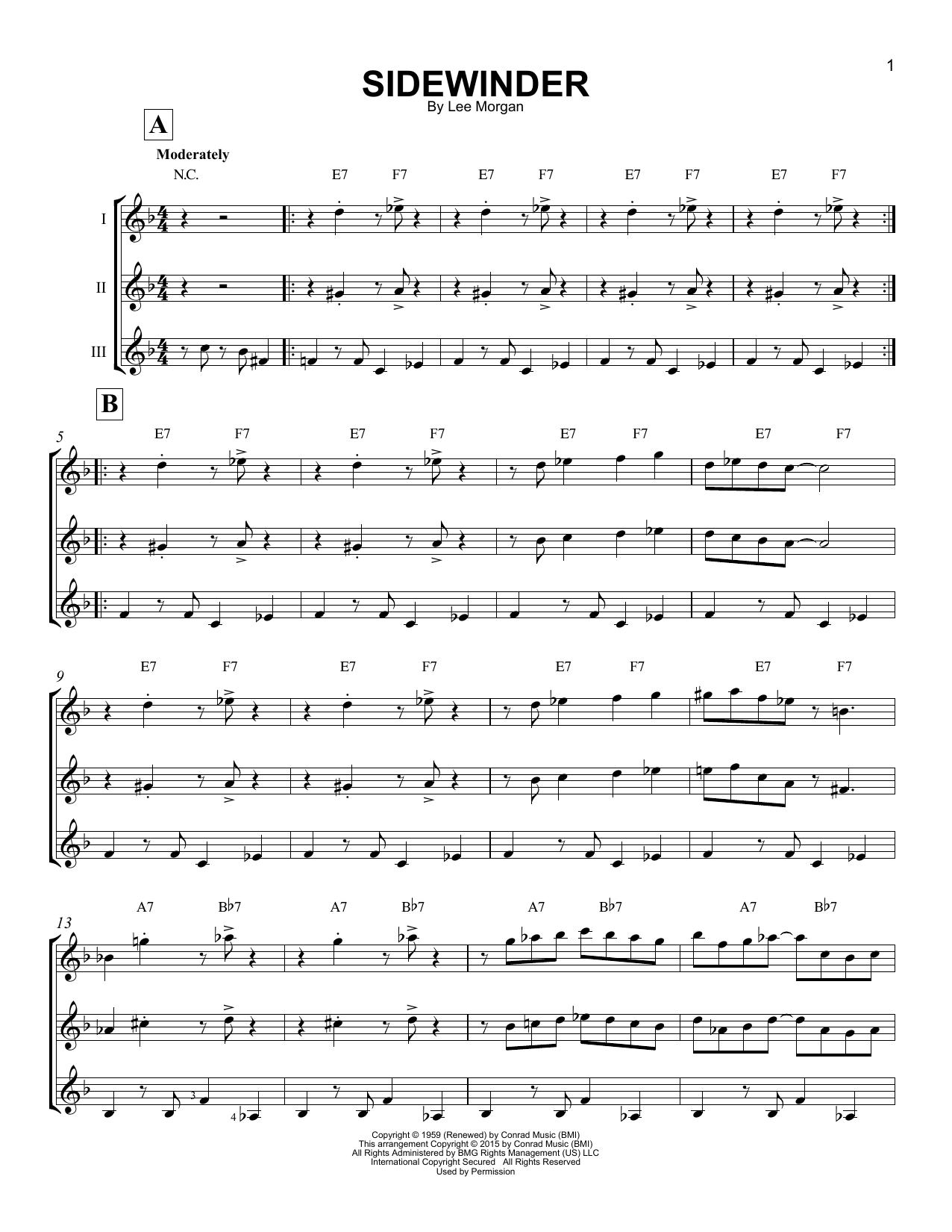 Sidewinder Sheet Music