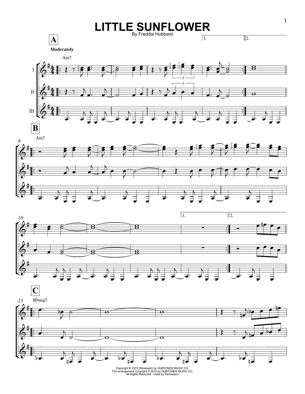 Little Sunflower Sheet Music