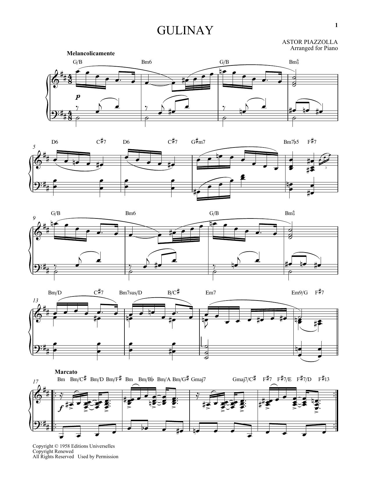 Gulinay Sheet Music