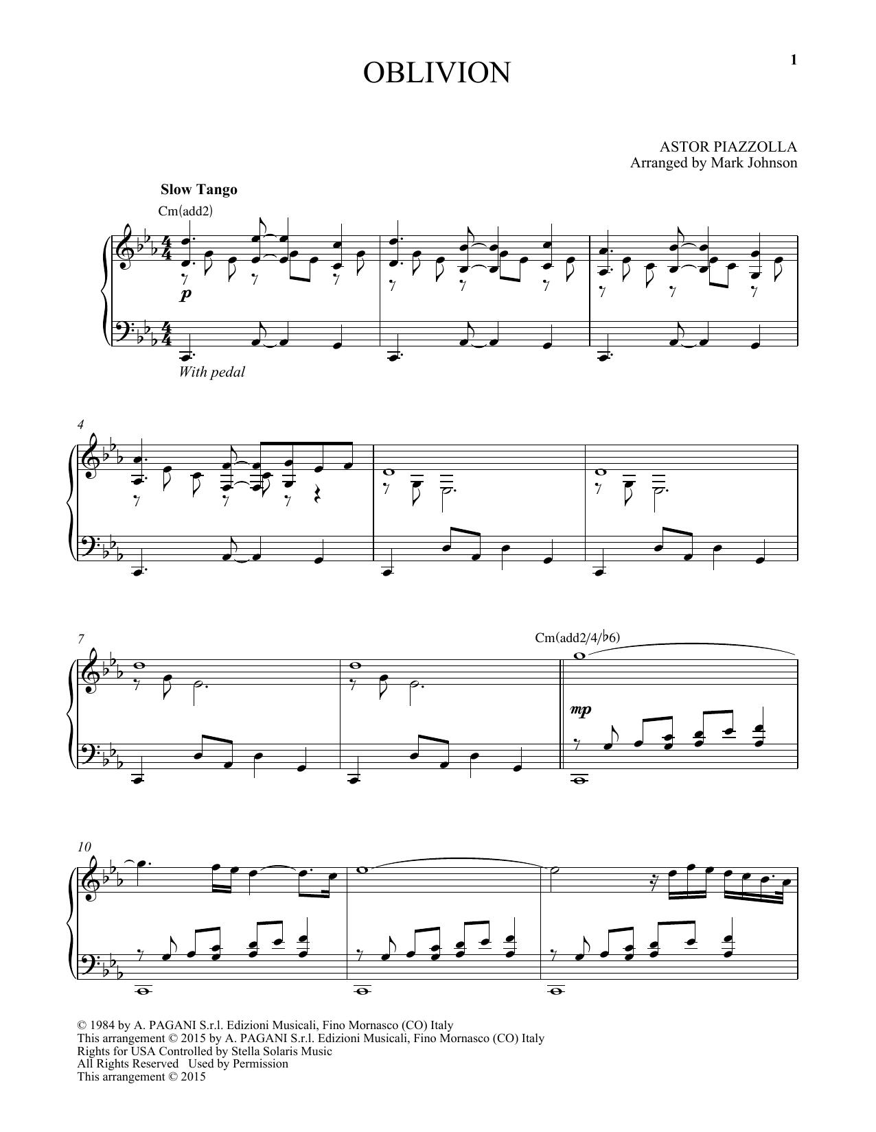 Oblivion (Piano Solo)