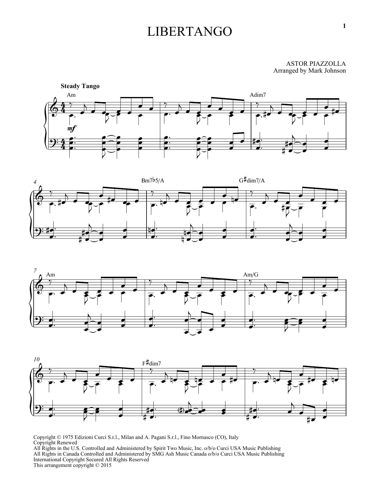 Libertango (Piano Solo)