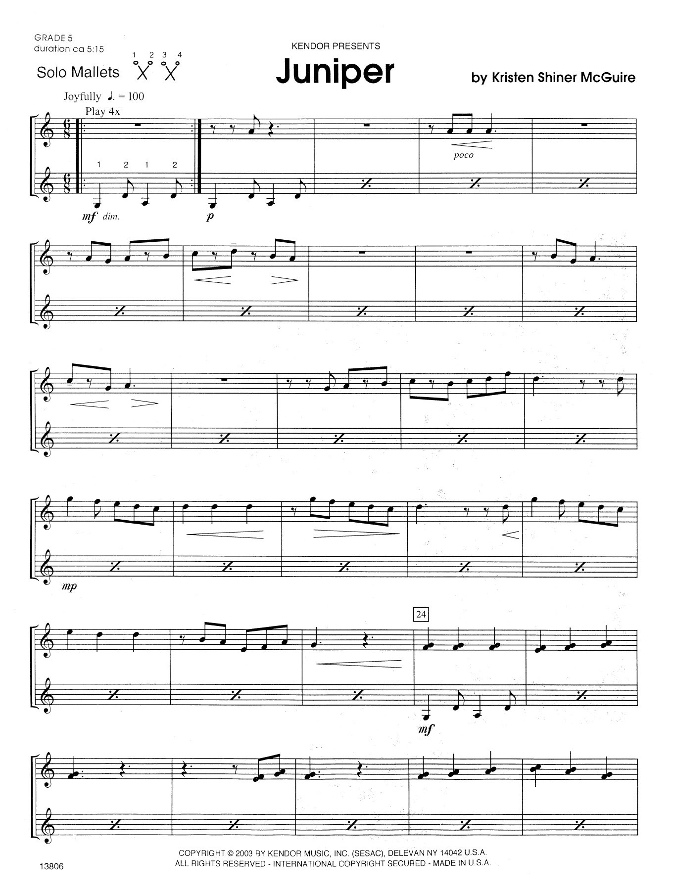 Juniper Sheet Music