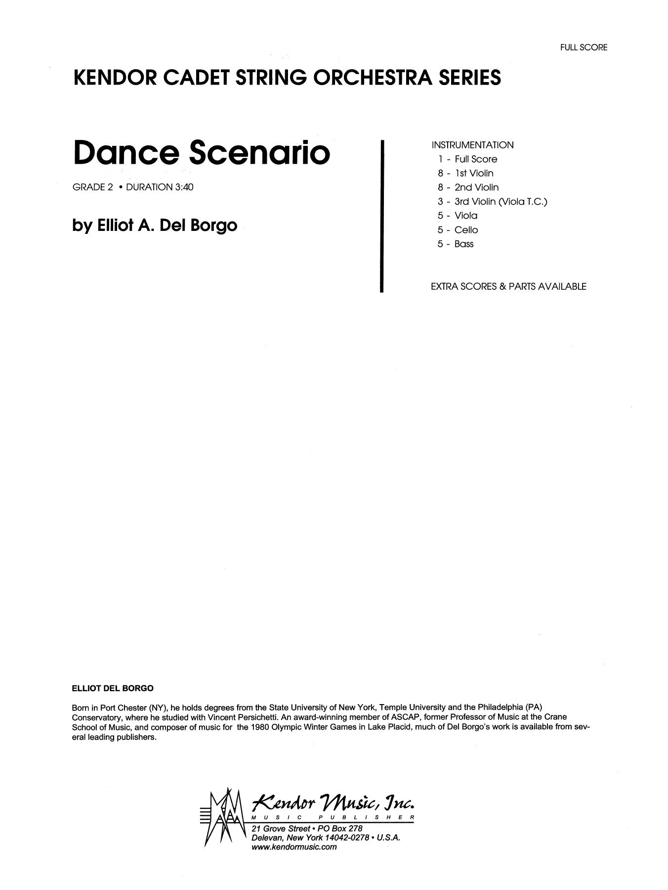 Dance Scenario (COMPLETE) sheet music for orchestra by Elliot A. Del Borgo. Score Image Preview.