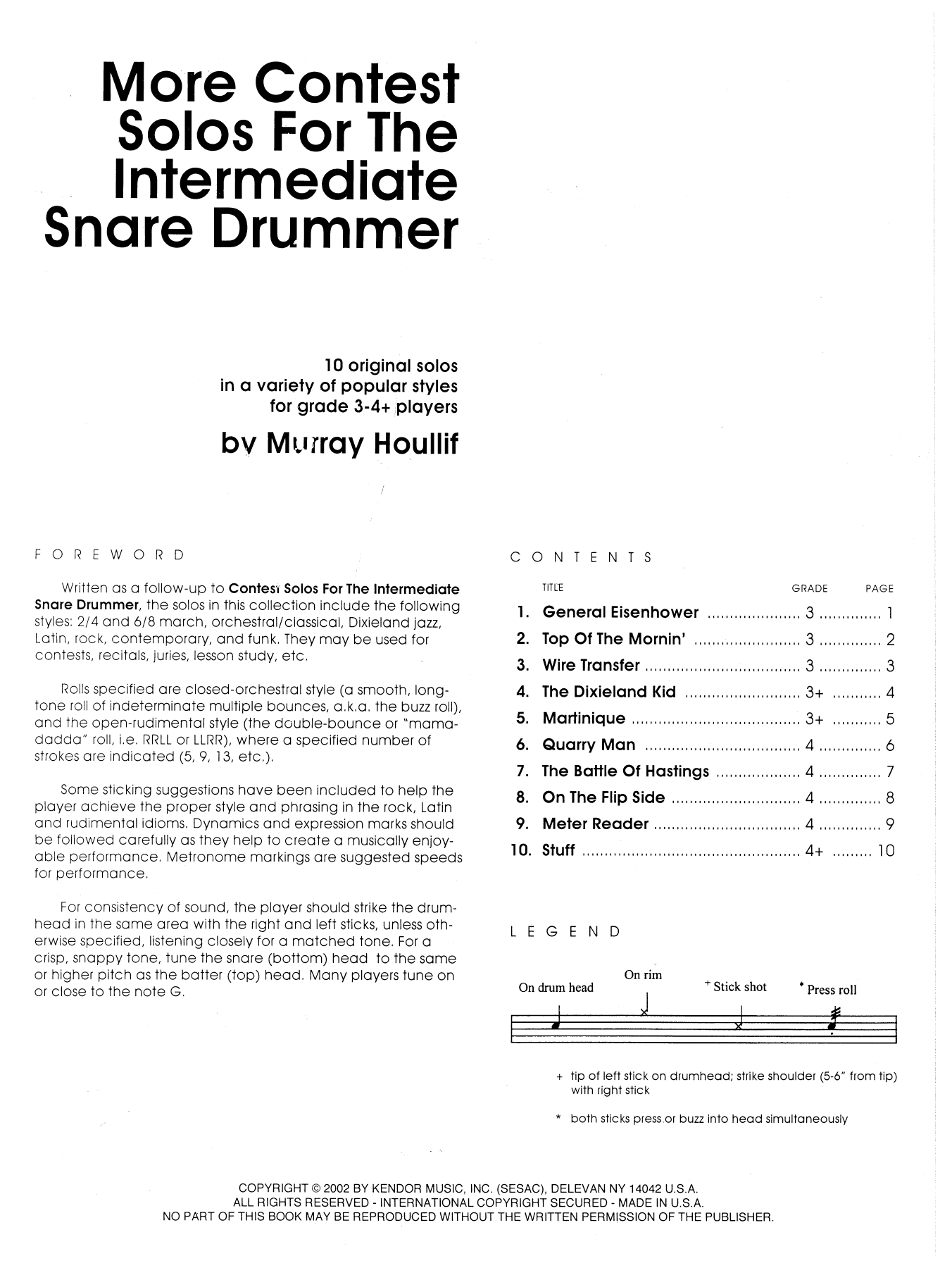 More Contest Solos For The Intermediate Snare Drummer Sheet Music