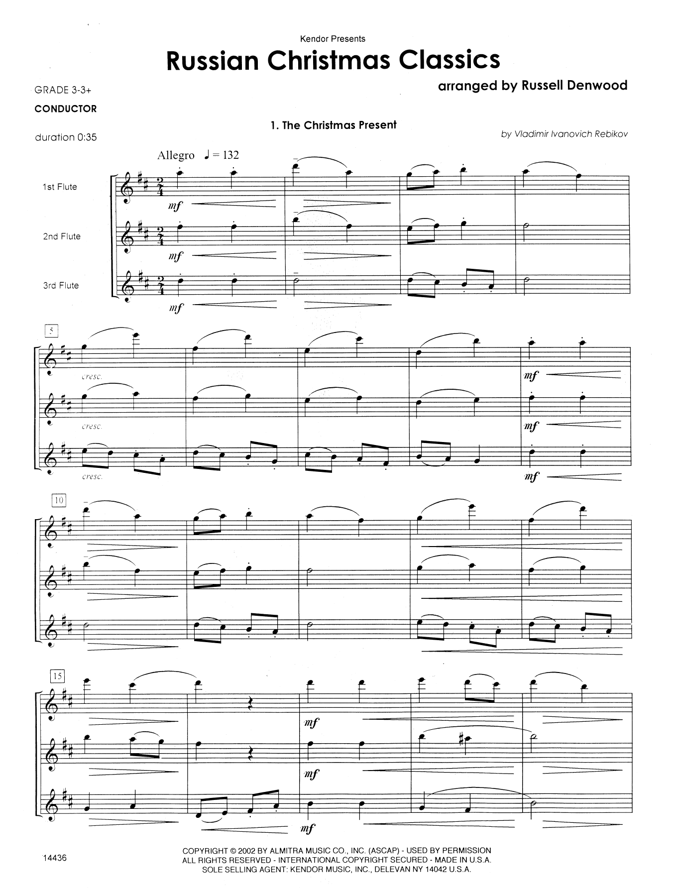 Russian Christmas Classics - Full Score Sheet Music