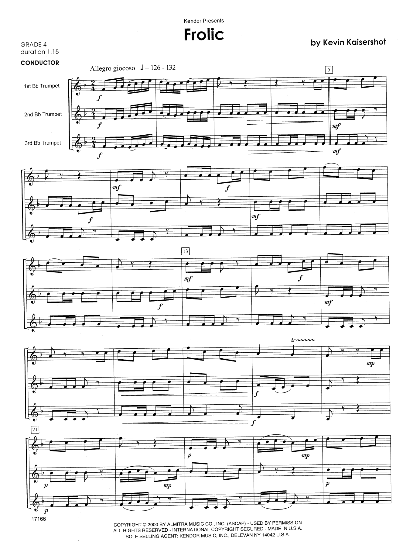 Frolic - Full Score Sheet Music