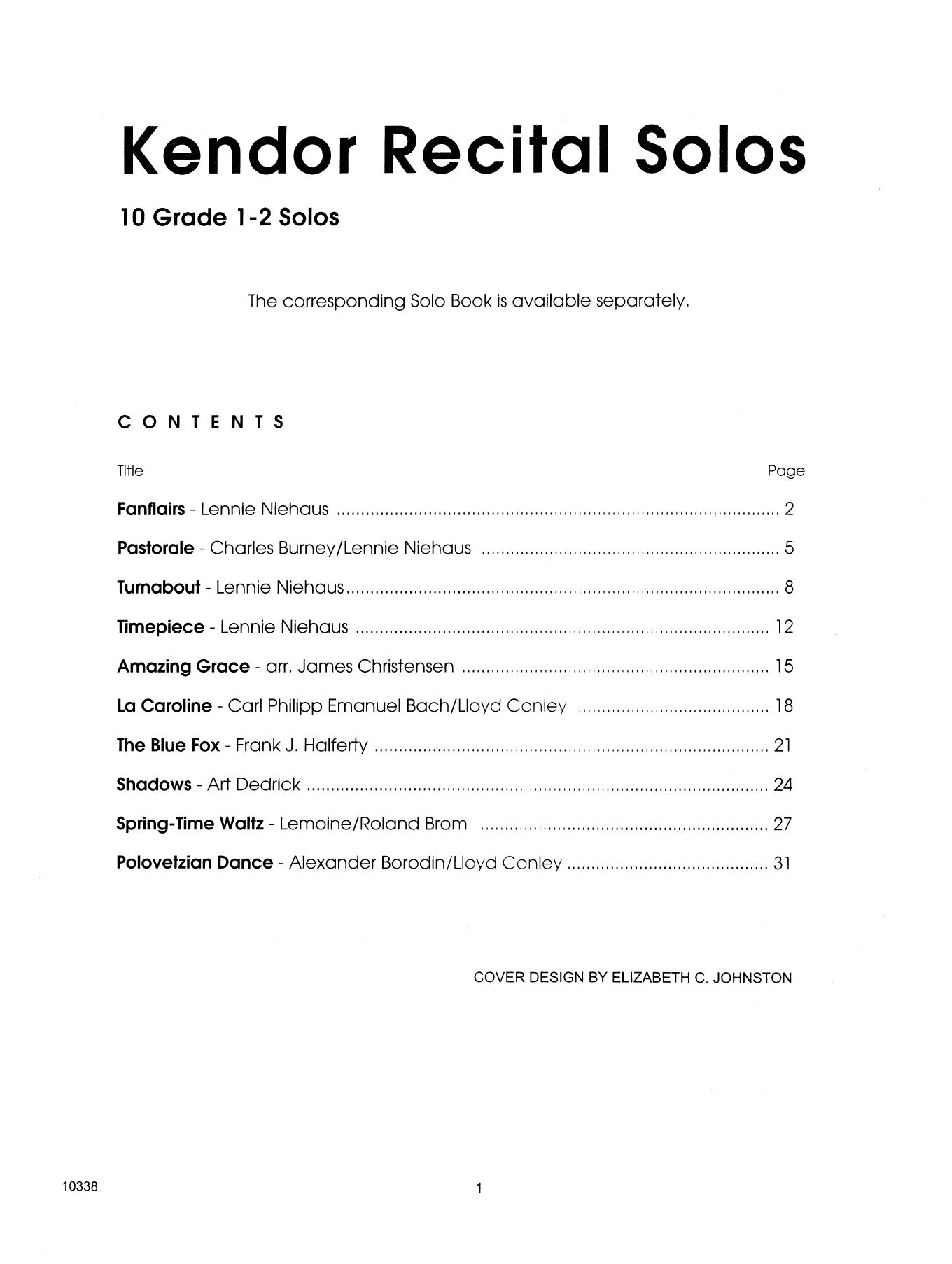 Kendor Recital Solos - Tenor Saxophone (Piano Accompaniment Book Only) Sheet Music