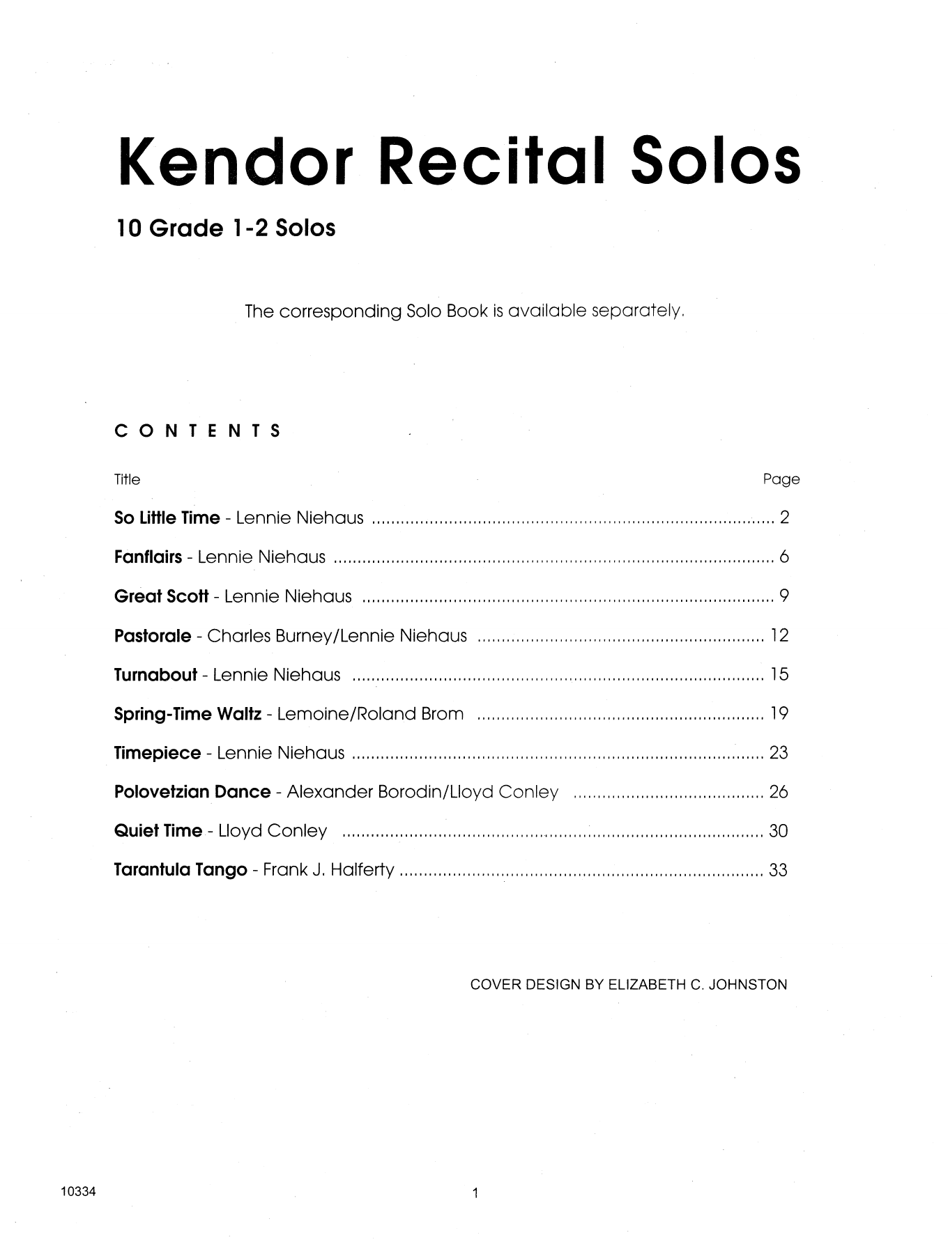 Kendor Recital Solos - Clarinet (Piano Accompaniment Book Only) Sheet Music