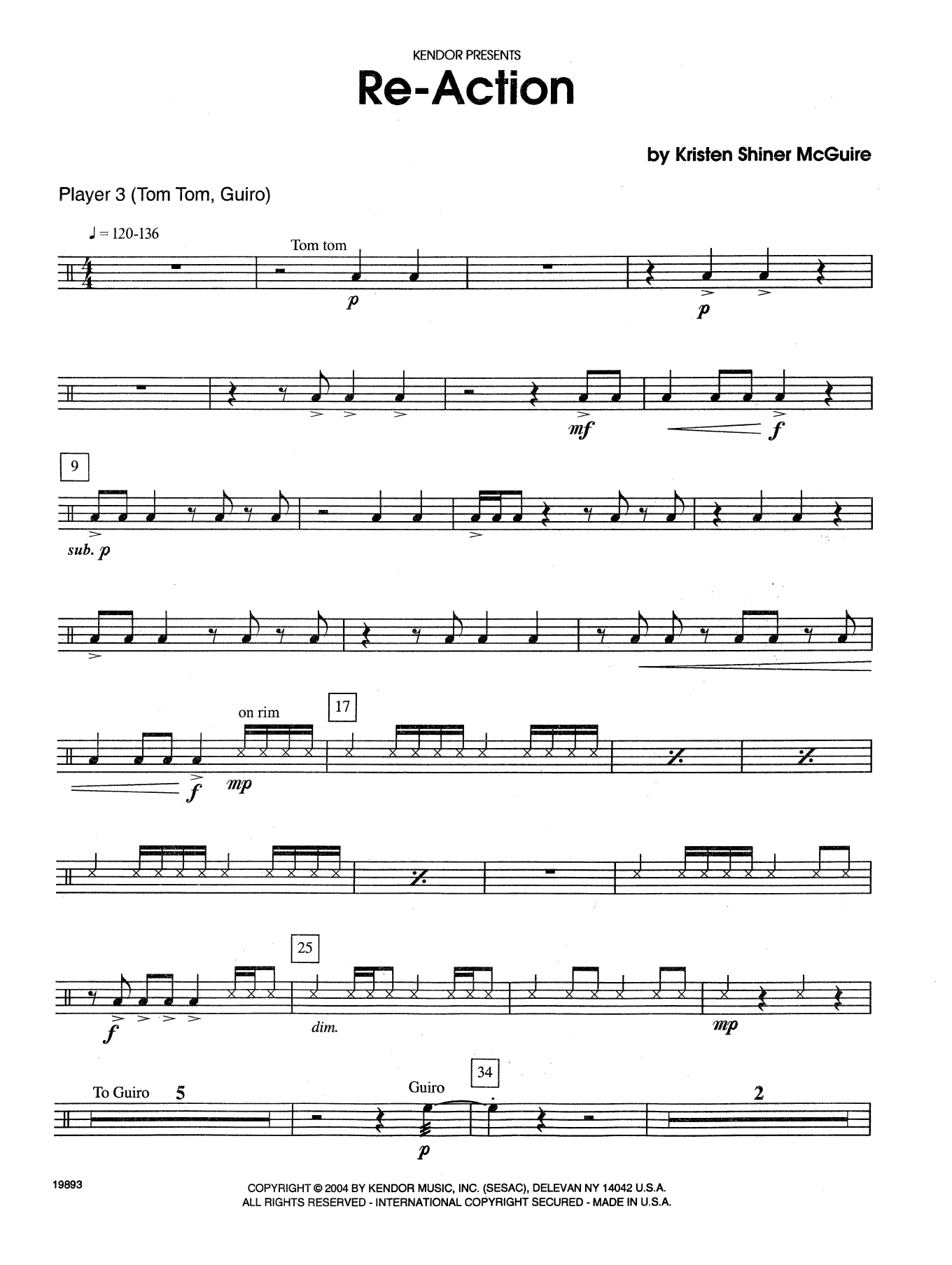 Re-Action - Percussion 3 Sheet Music