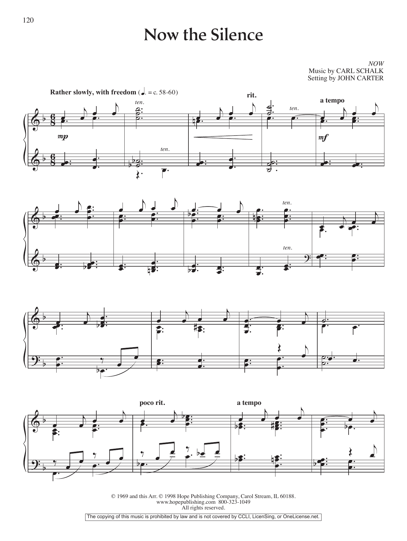 Now the Silence Sheet Music