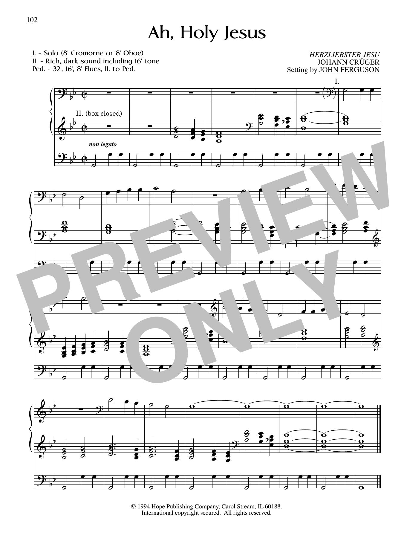 Ah, Holy Jesus Sheet Music