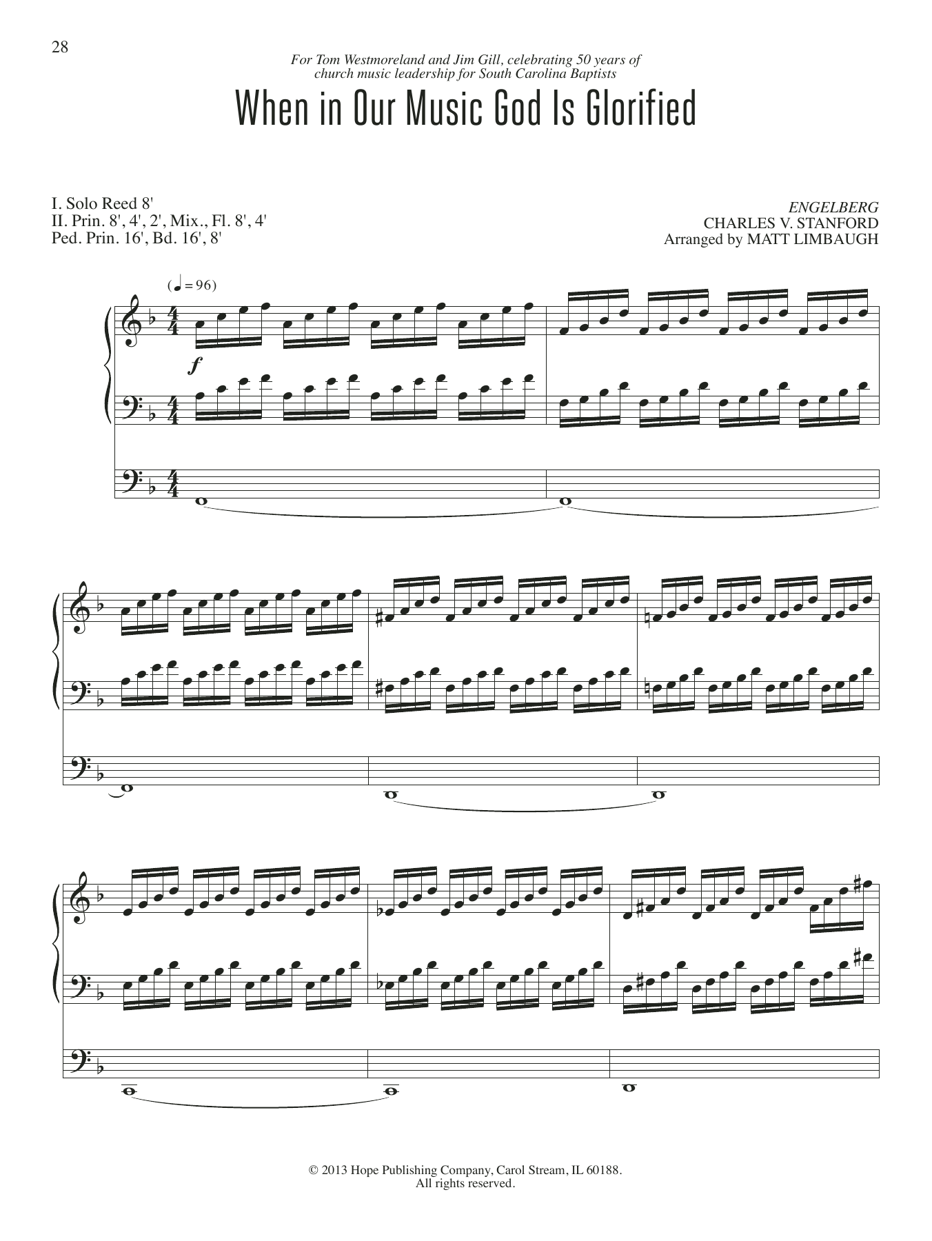When in Our Music God Is Glorified Sheet Music
