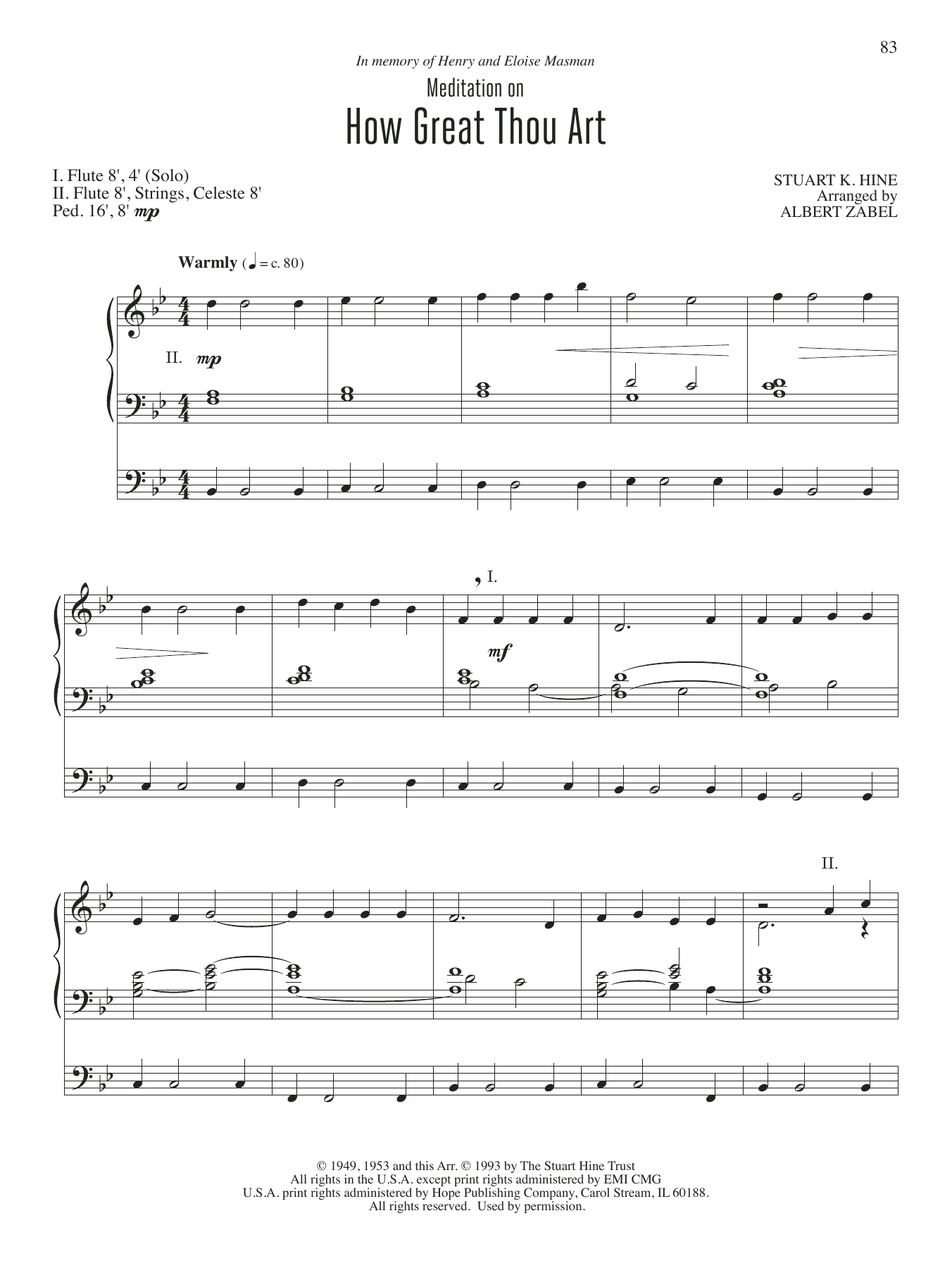 Meditation on How Great Thou Art Sheet Music