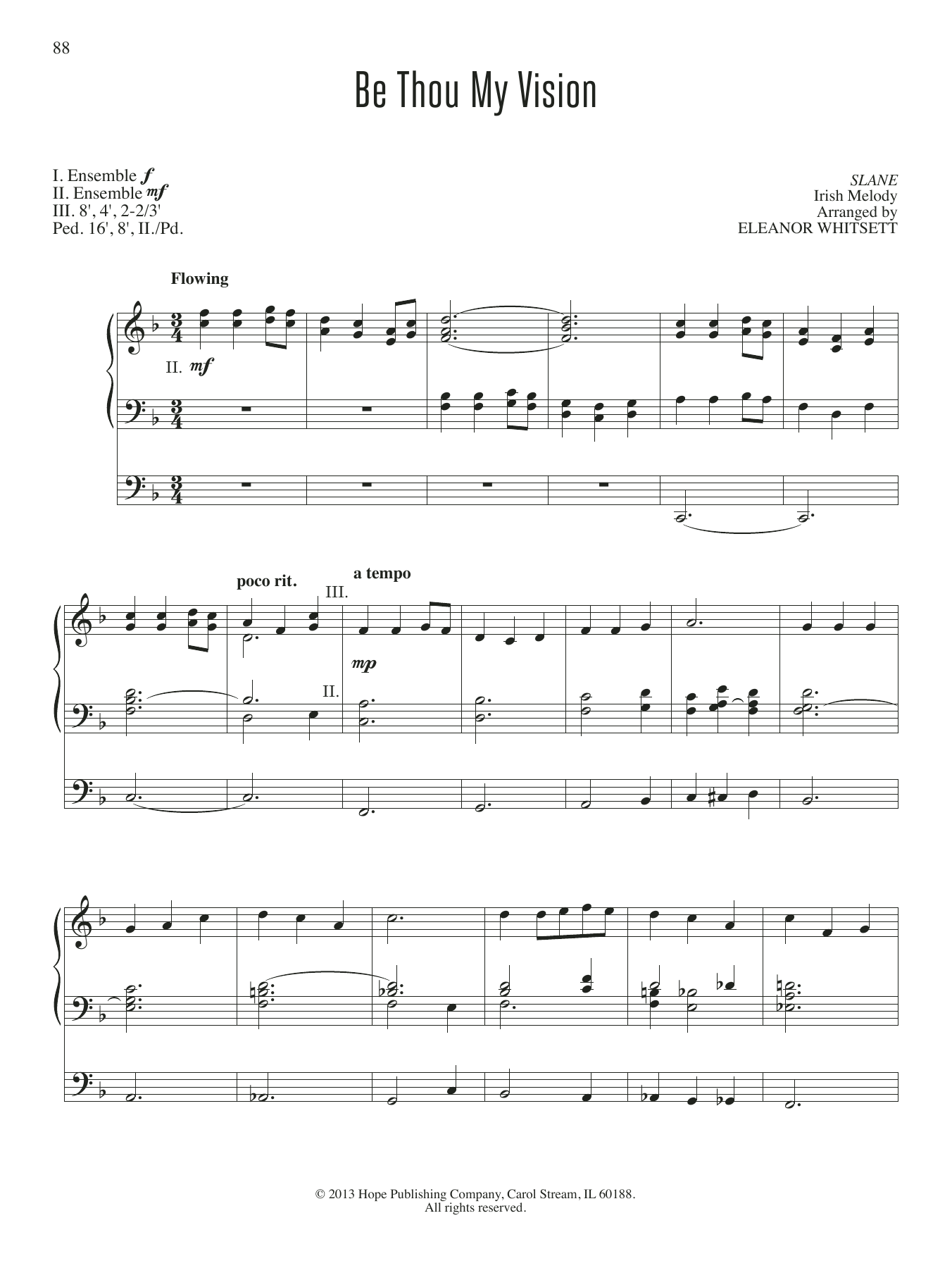 Be Thou My Vision by Eleanor Whitsett Organ Digital Sheet Music