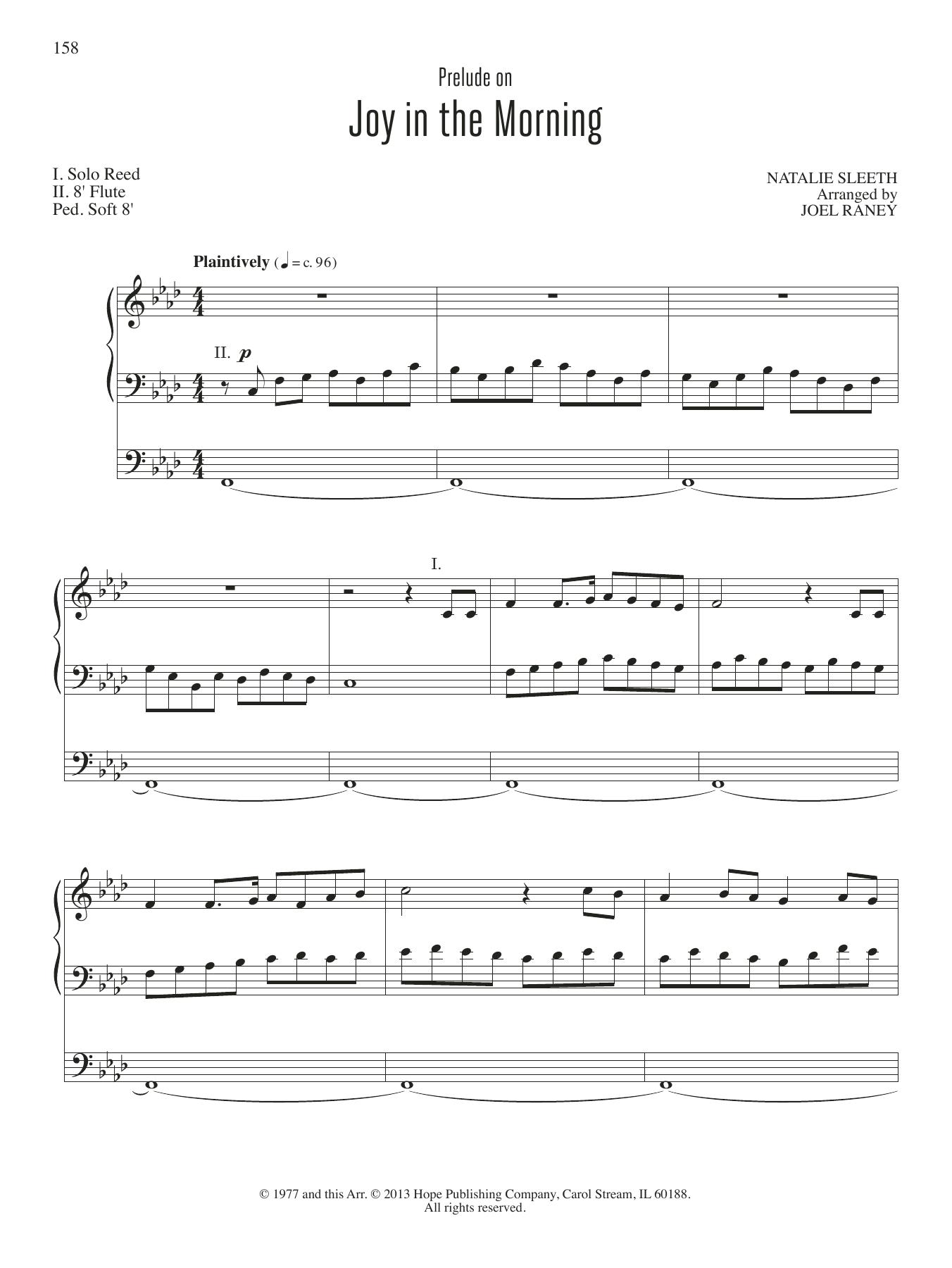 Joy in the Morning Sheet Music