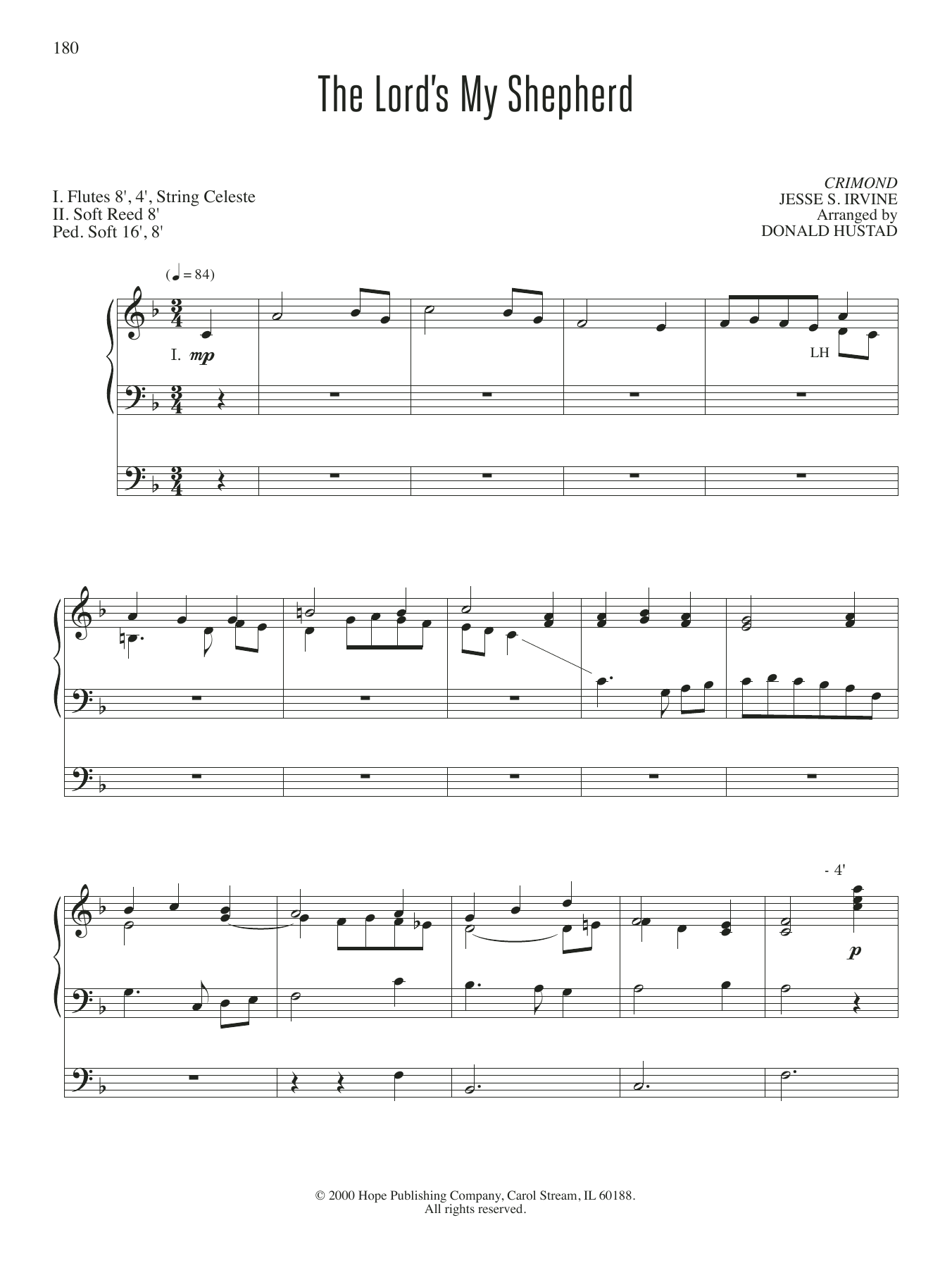 The Lord's My Shepherd Sheet Music