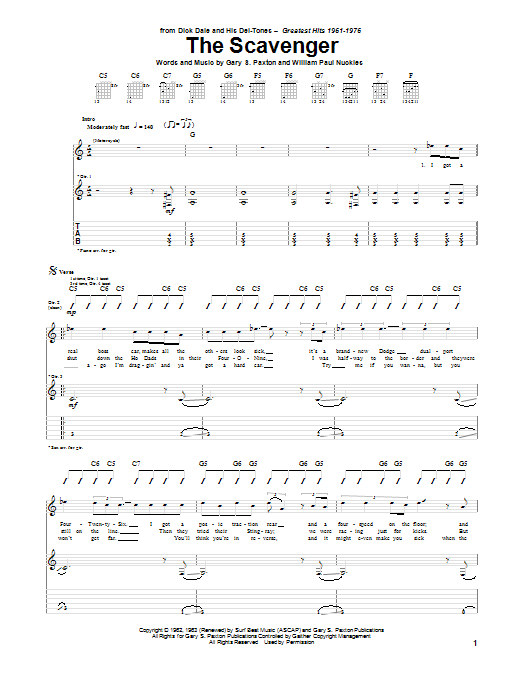 The Scavenger Sheet Music