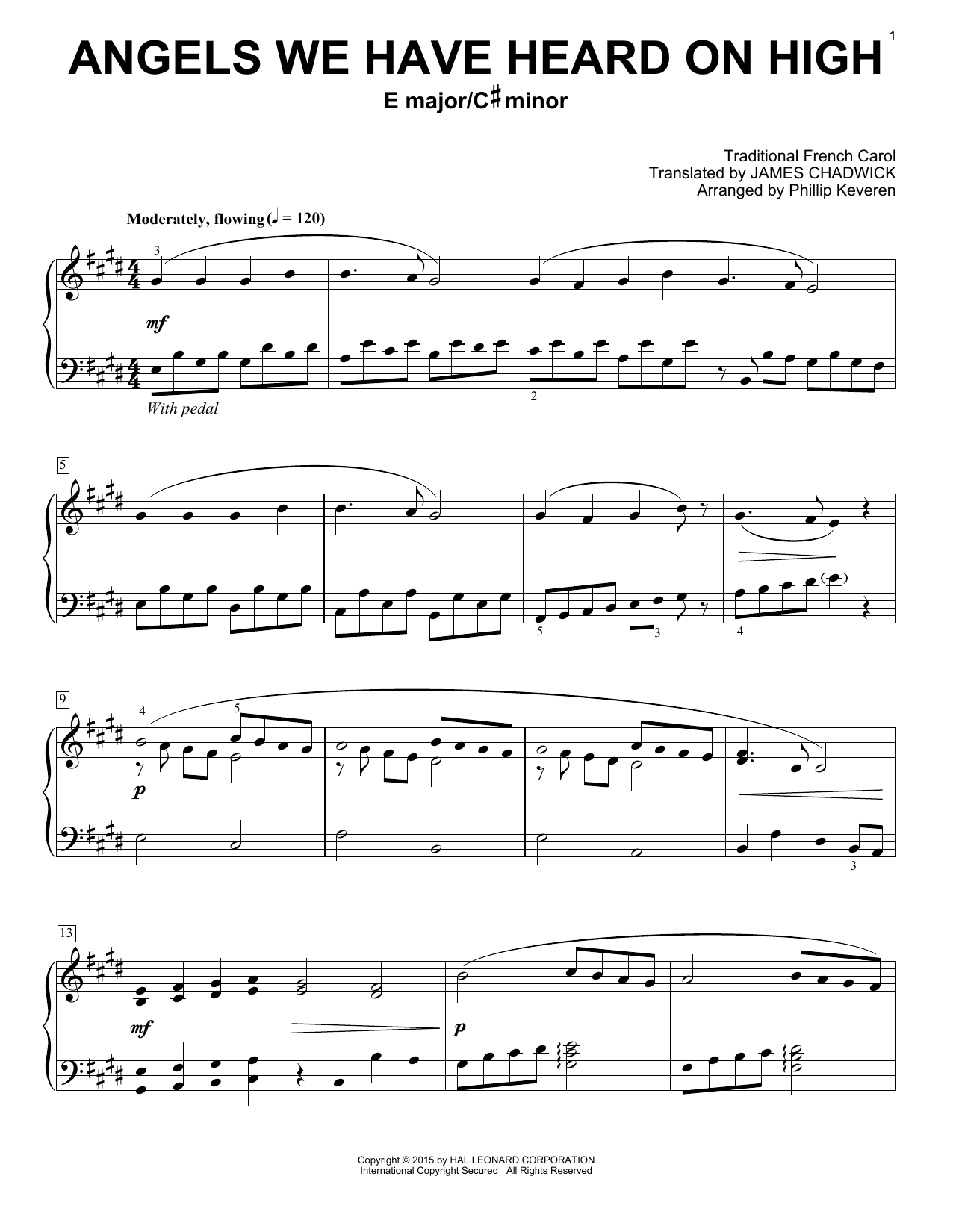 Angels We Have Heard On High Print Sheet Music Now