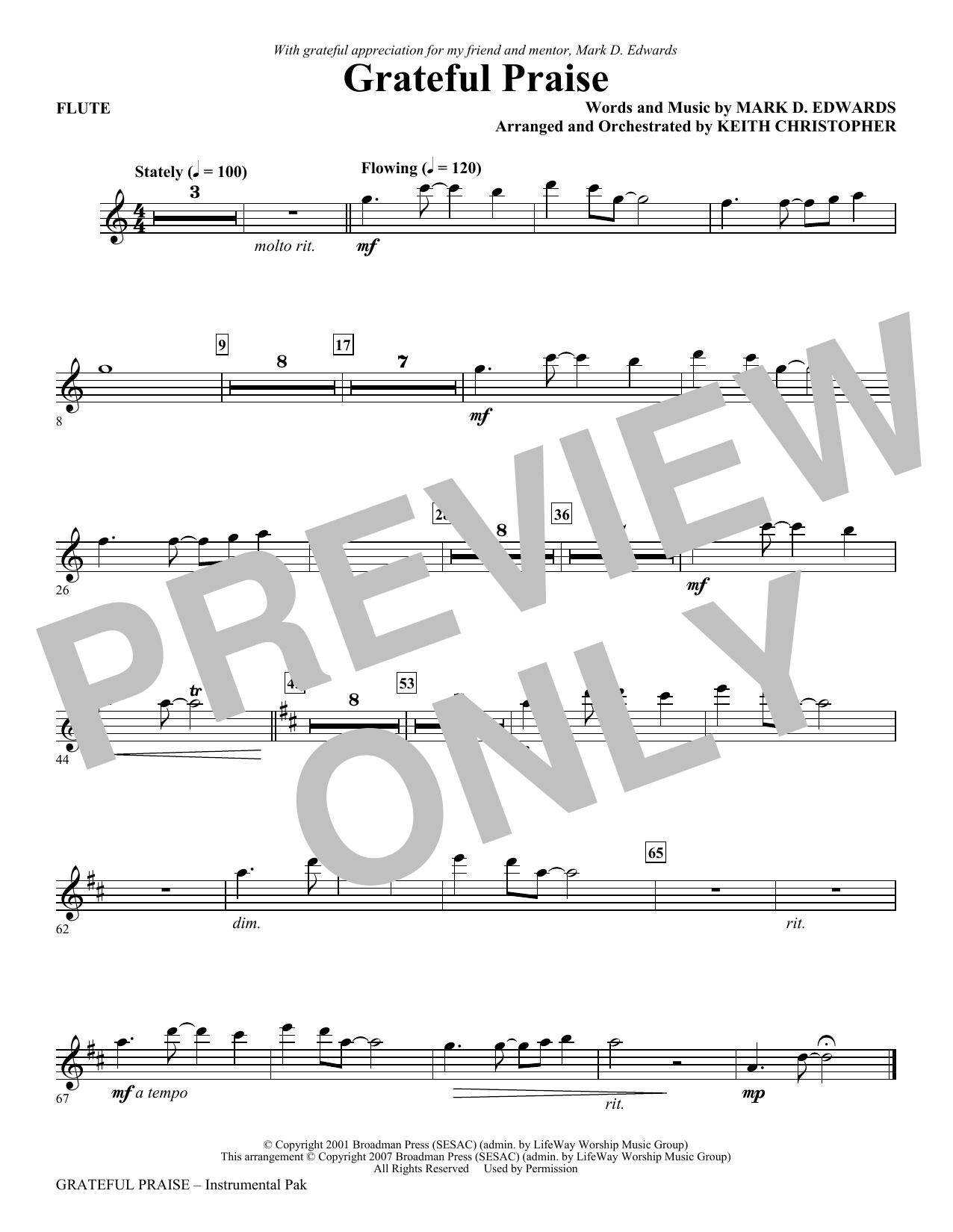 Grateful Praise - Flute (Choir Instrumental Pak)
