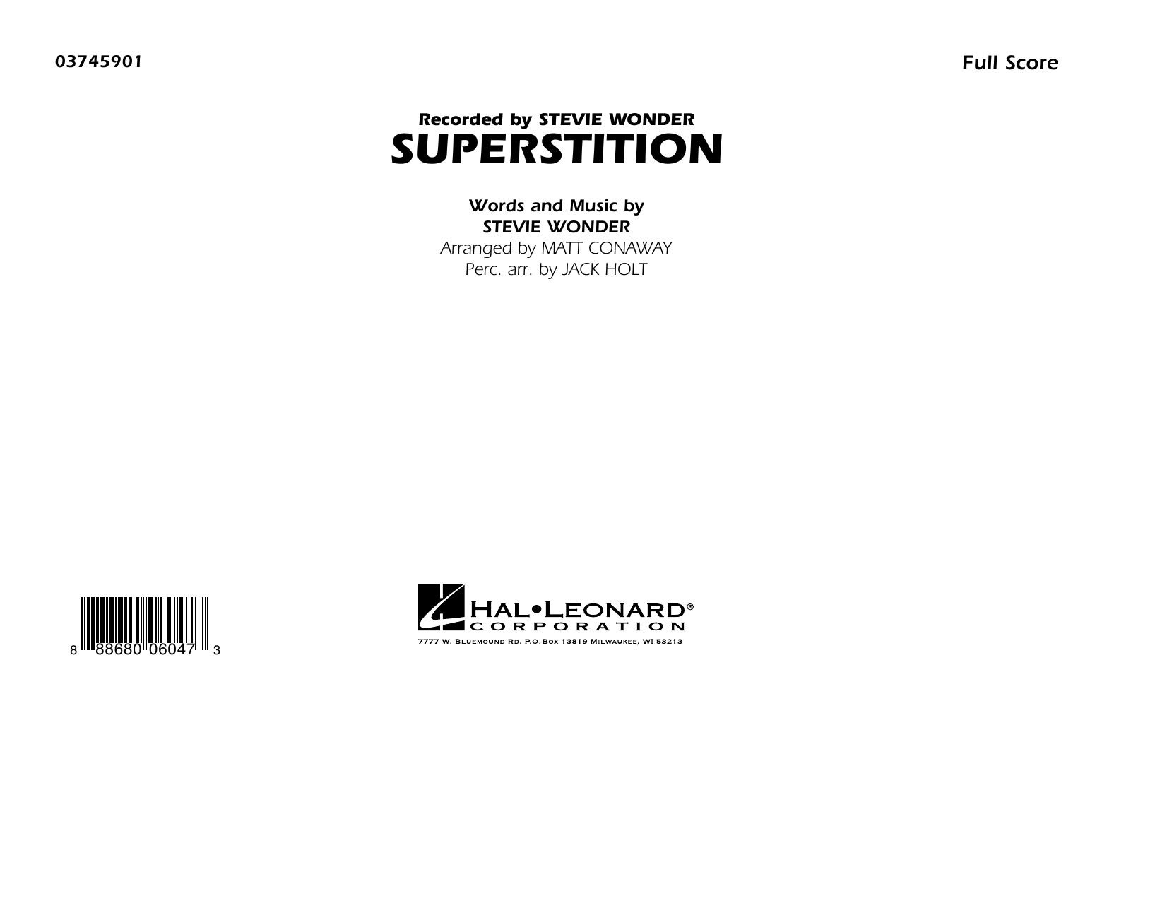 Superstition - Conductor Score (Full Score) (Marching Band)