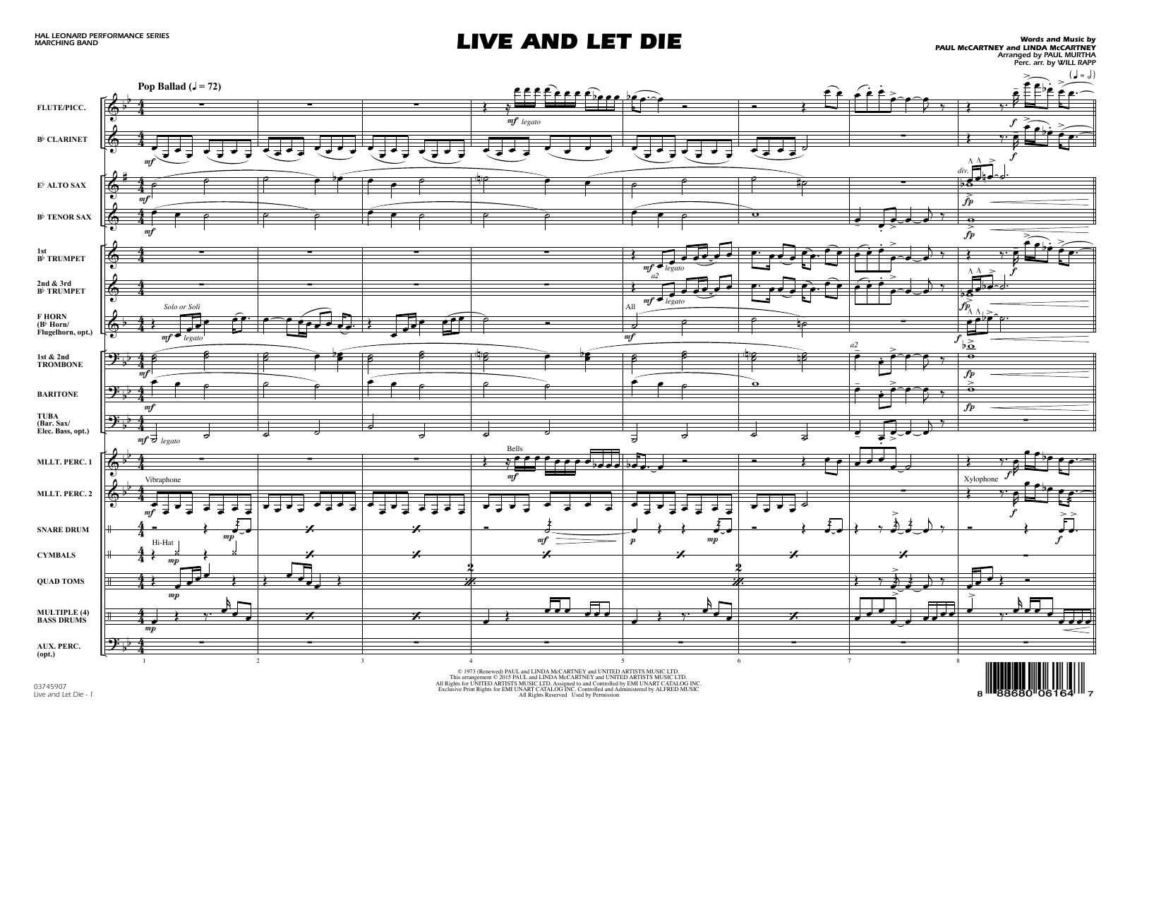 Live and Let Die - Conductor Score (Full Score) (Marching Band)