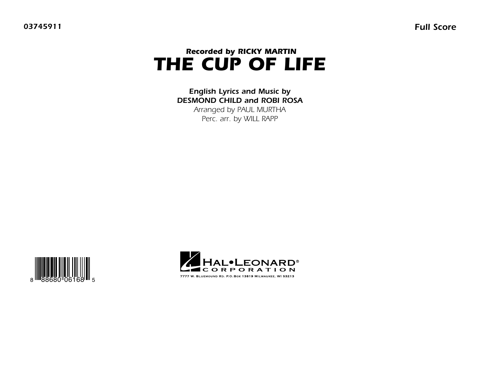The Cup of Life - Conductor Score (Full Score) (Marching Band)