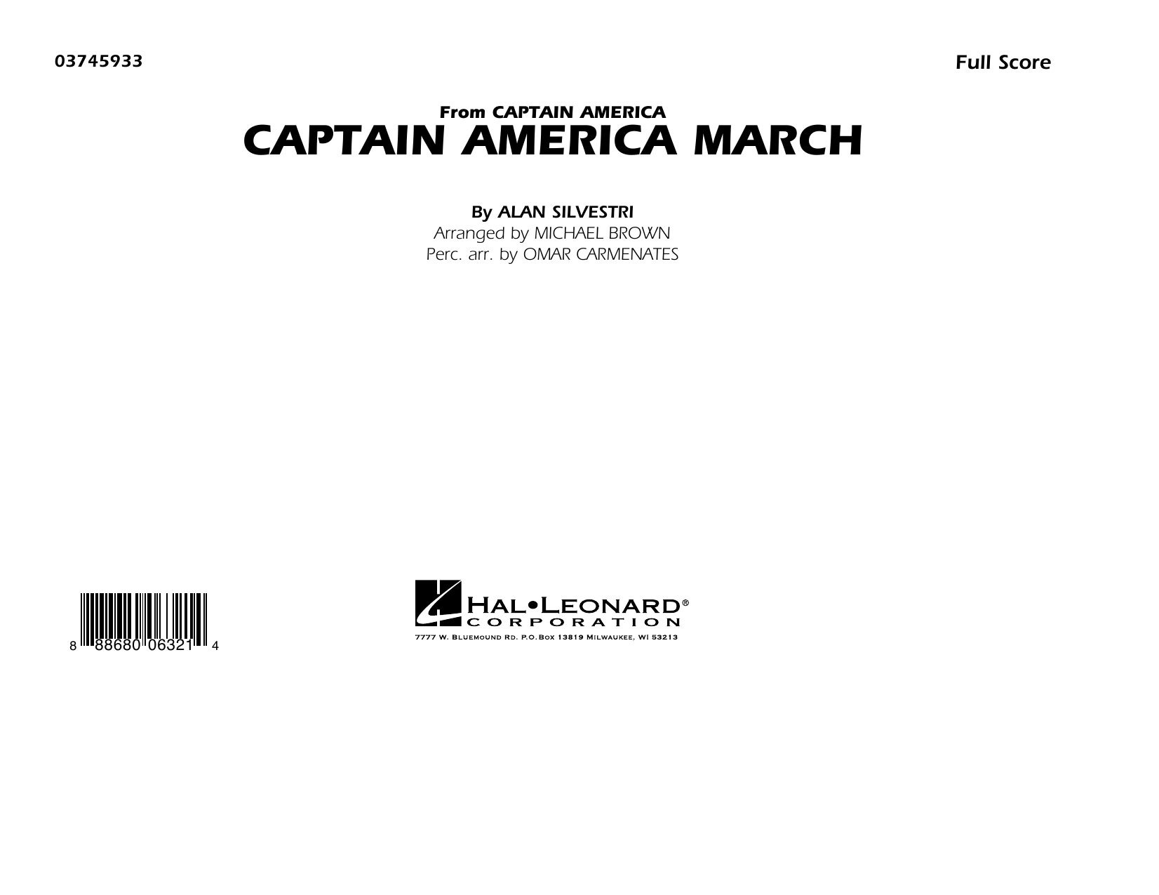 Captain America March (COMPLETE) sheet music for marching band by Michael Brown and Alan Silvestri. Score Image Preview.