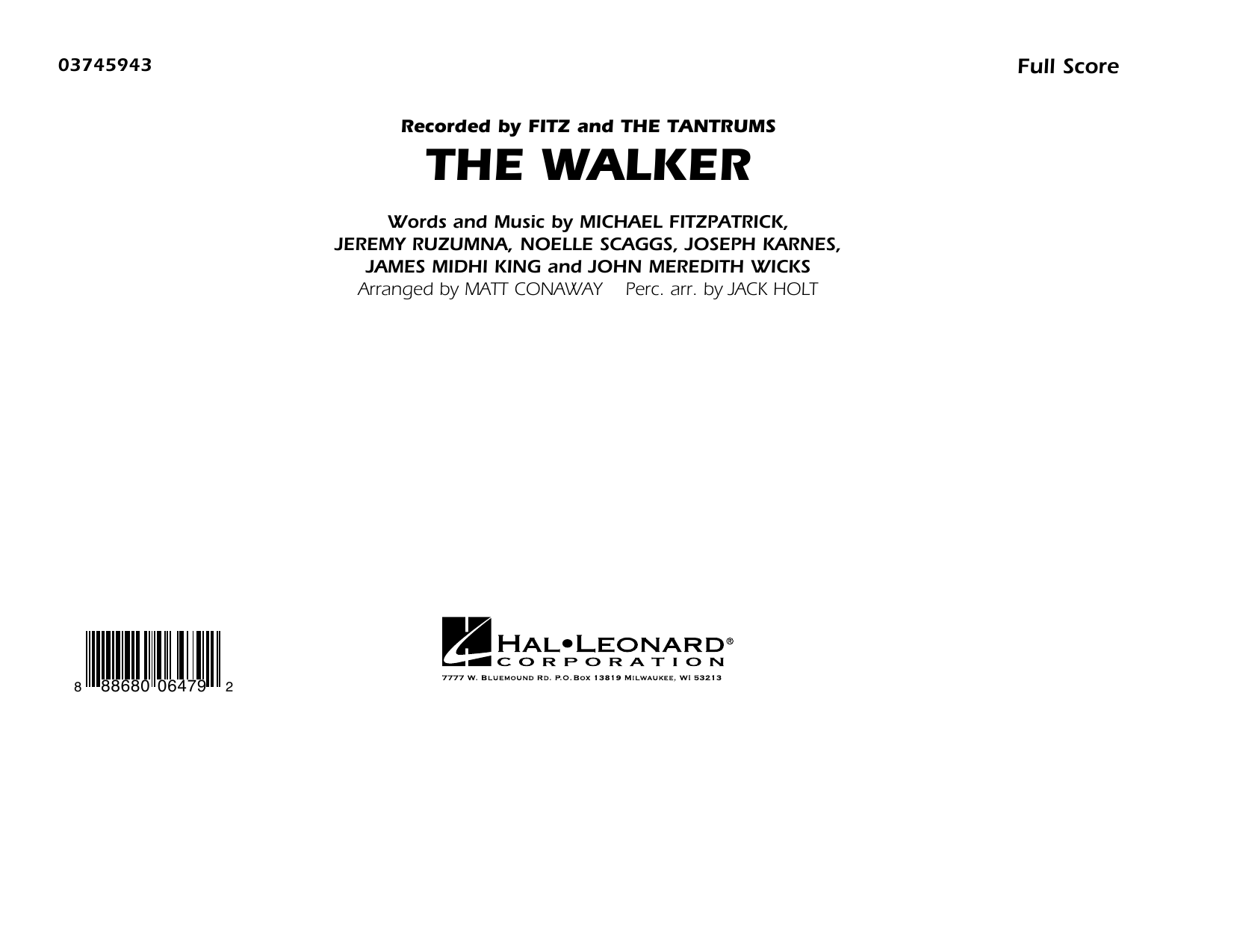 The Walker - Conductor Score (Full Score) (Marching Band)