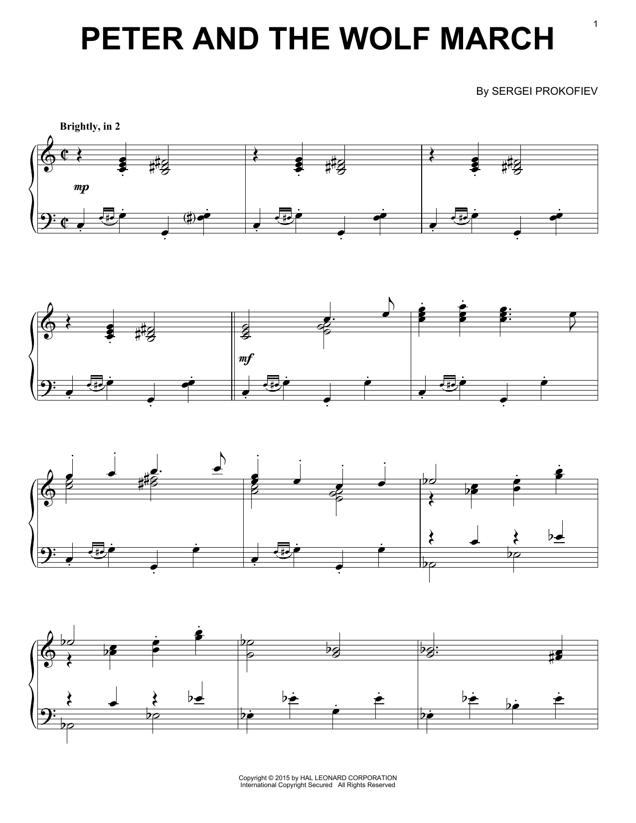 Peter And The Wolf March Sheet Music