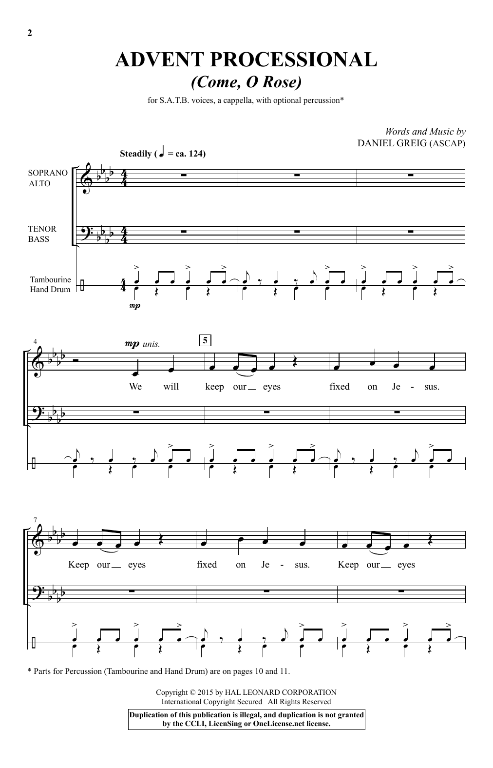 Advent Processional Sheet Music