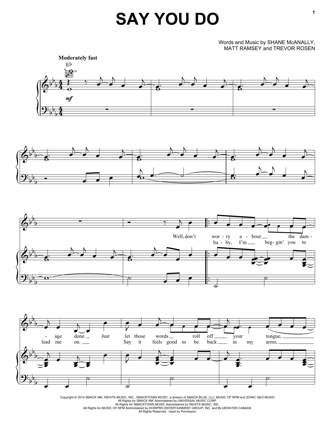 Say You Do Sheet Music