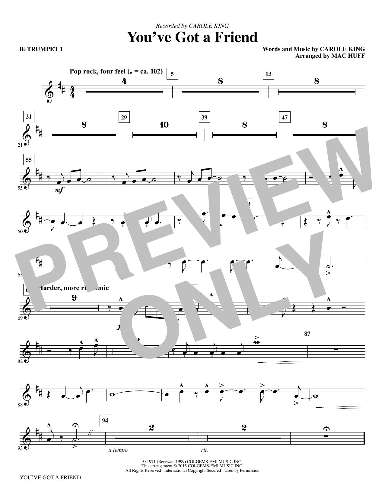 You've Got a Friend - Bb Trumpet 1 (Choir Instrumental Pak)