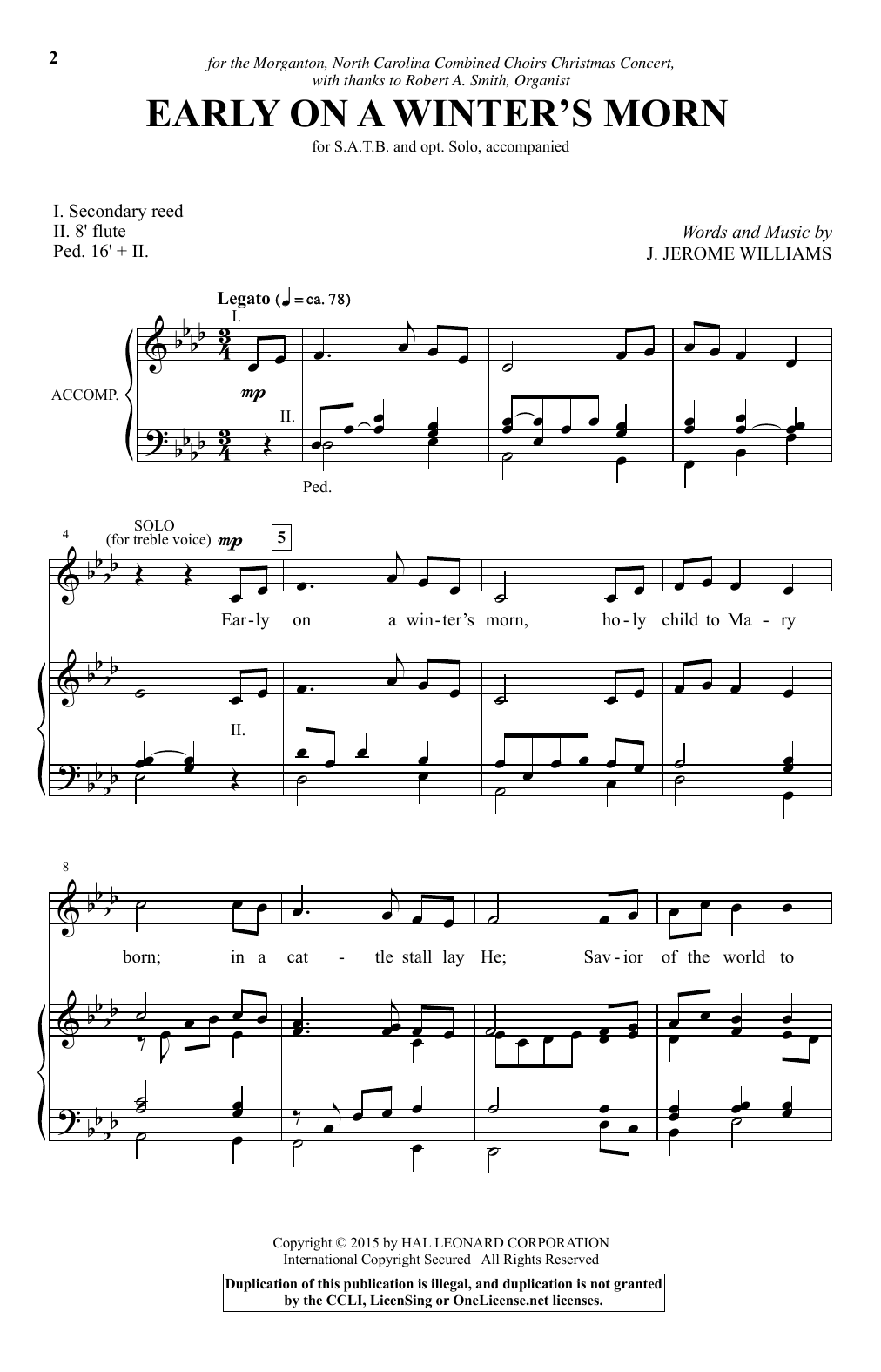 Early On A Winter's Morn Sheet Music