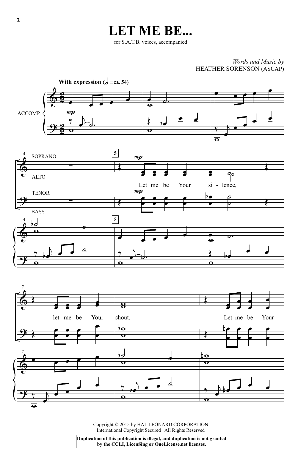Let Me Be... Sheet Music