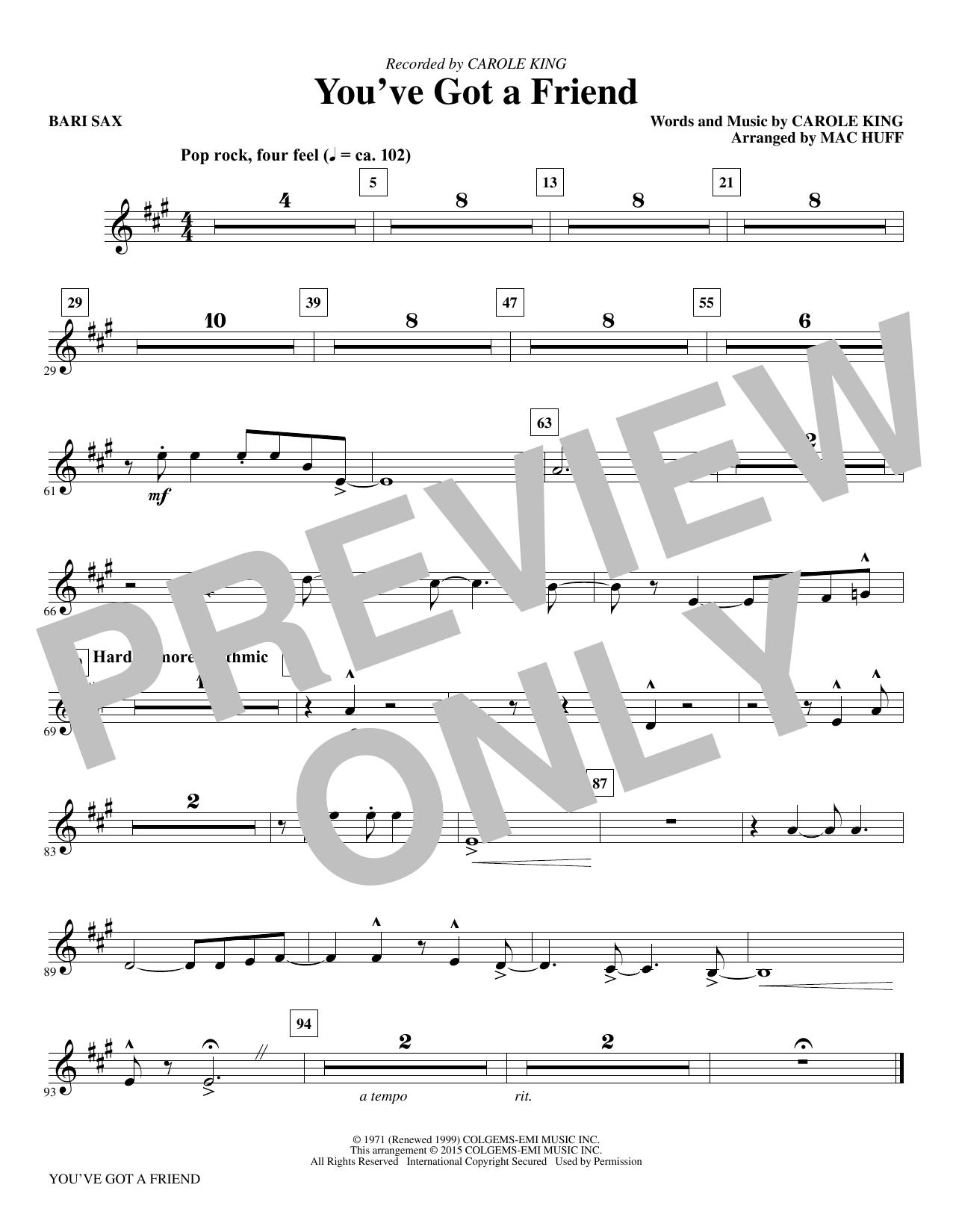 You've Got a Friend - Baritone Sax (Choir Instrumental Pak)