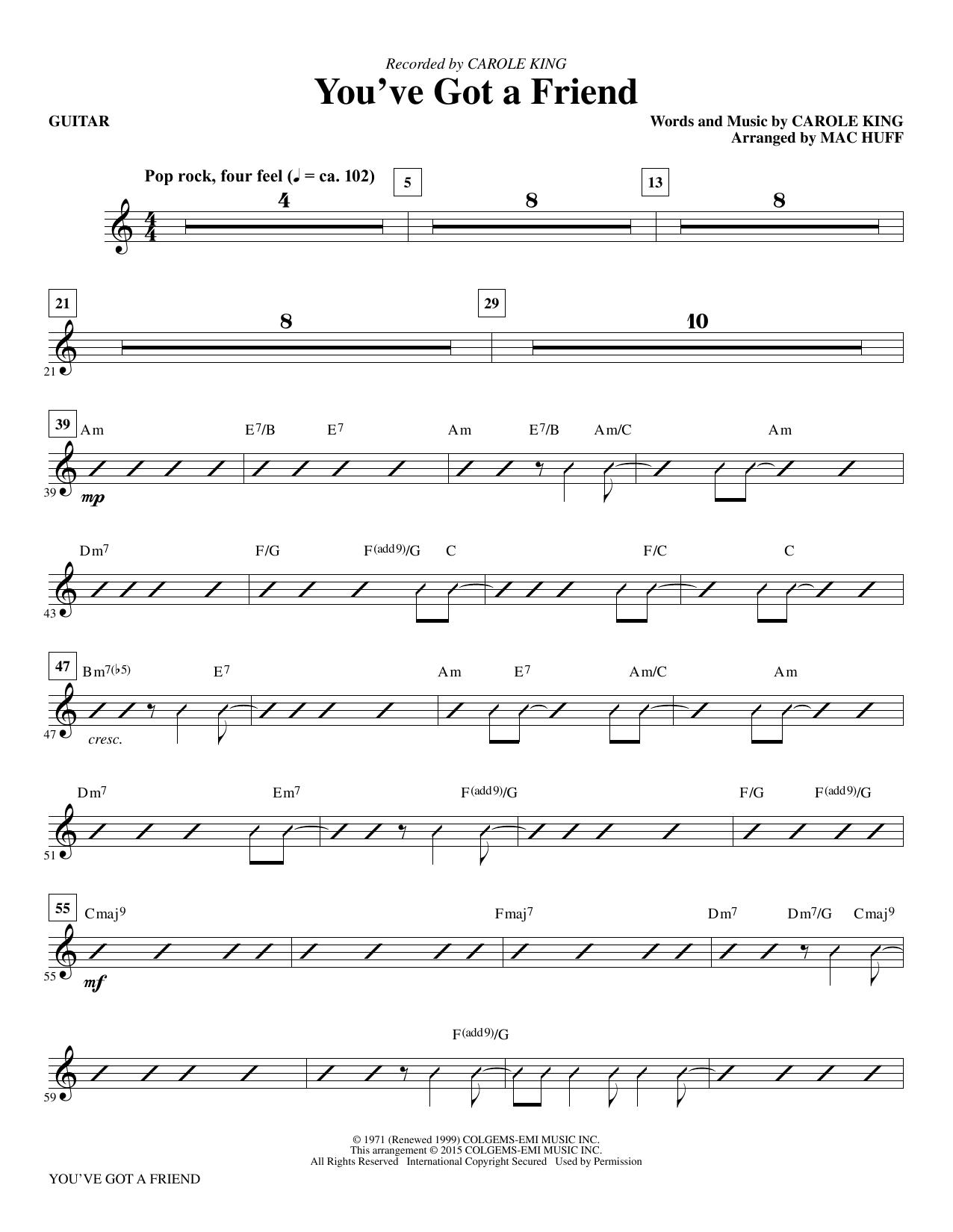 You've Got a Friend - Guitar (Choir Instrumental Pak)
