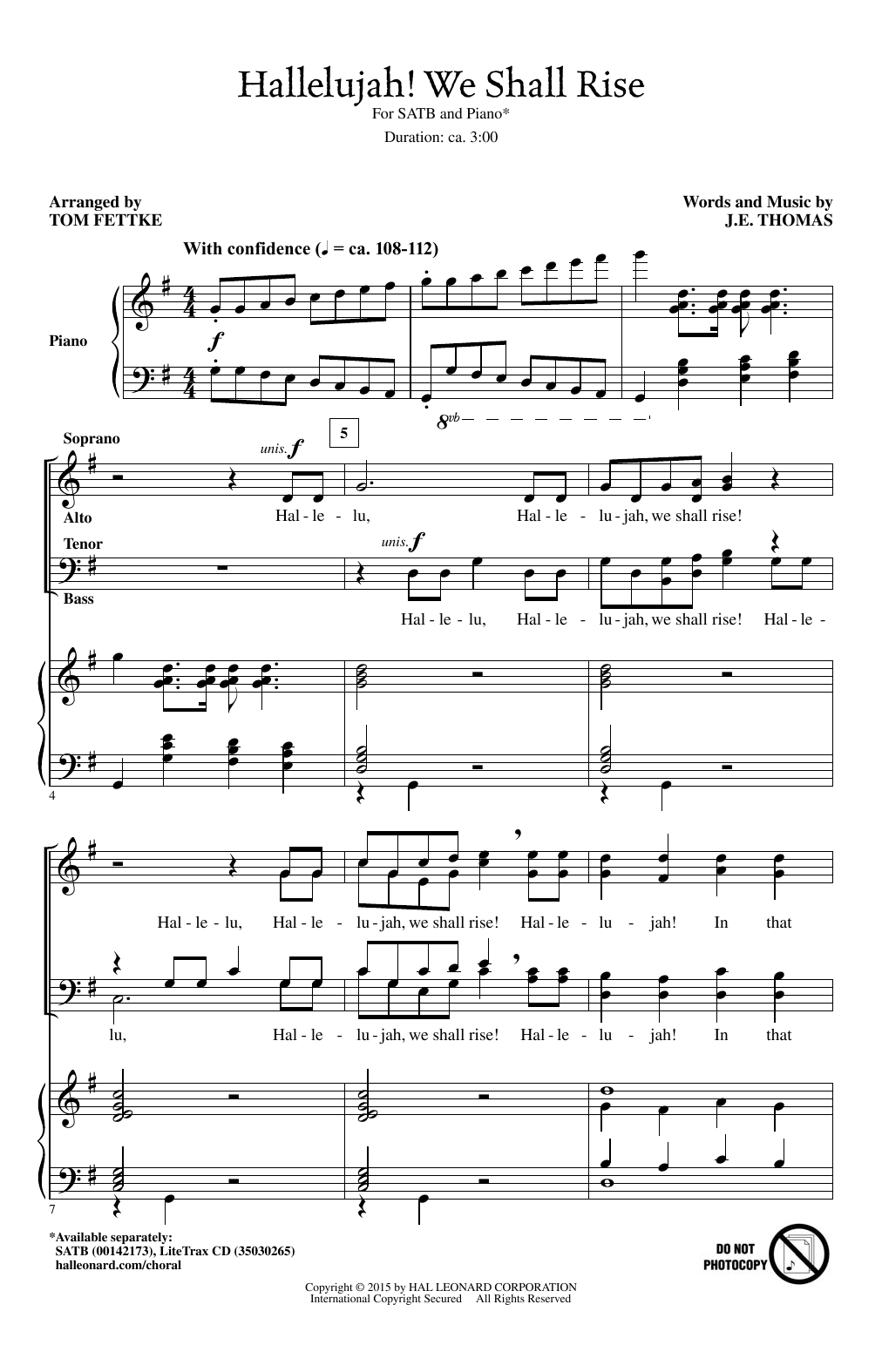 Hallelujah! We Shall Rise (arr. Tom Fettke) Sheet Music