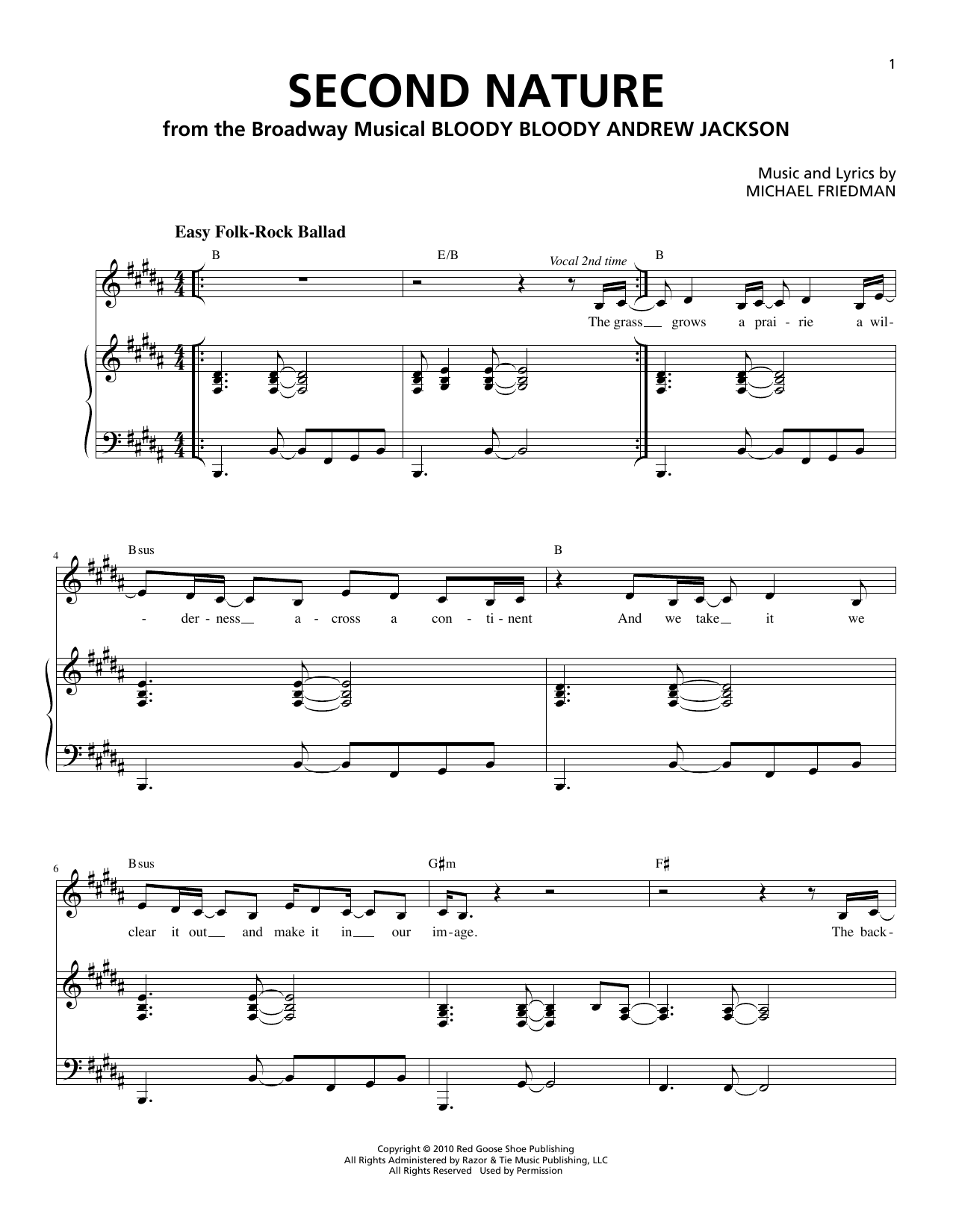 Second Nature Sheet Music