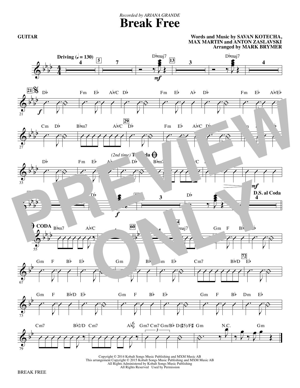 Break Free - Guitar (Choir Instrumental Pak)