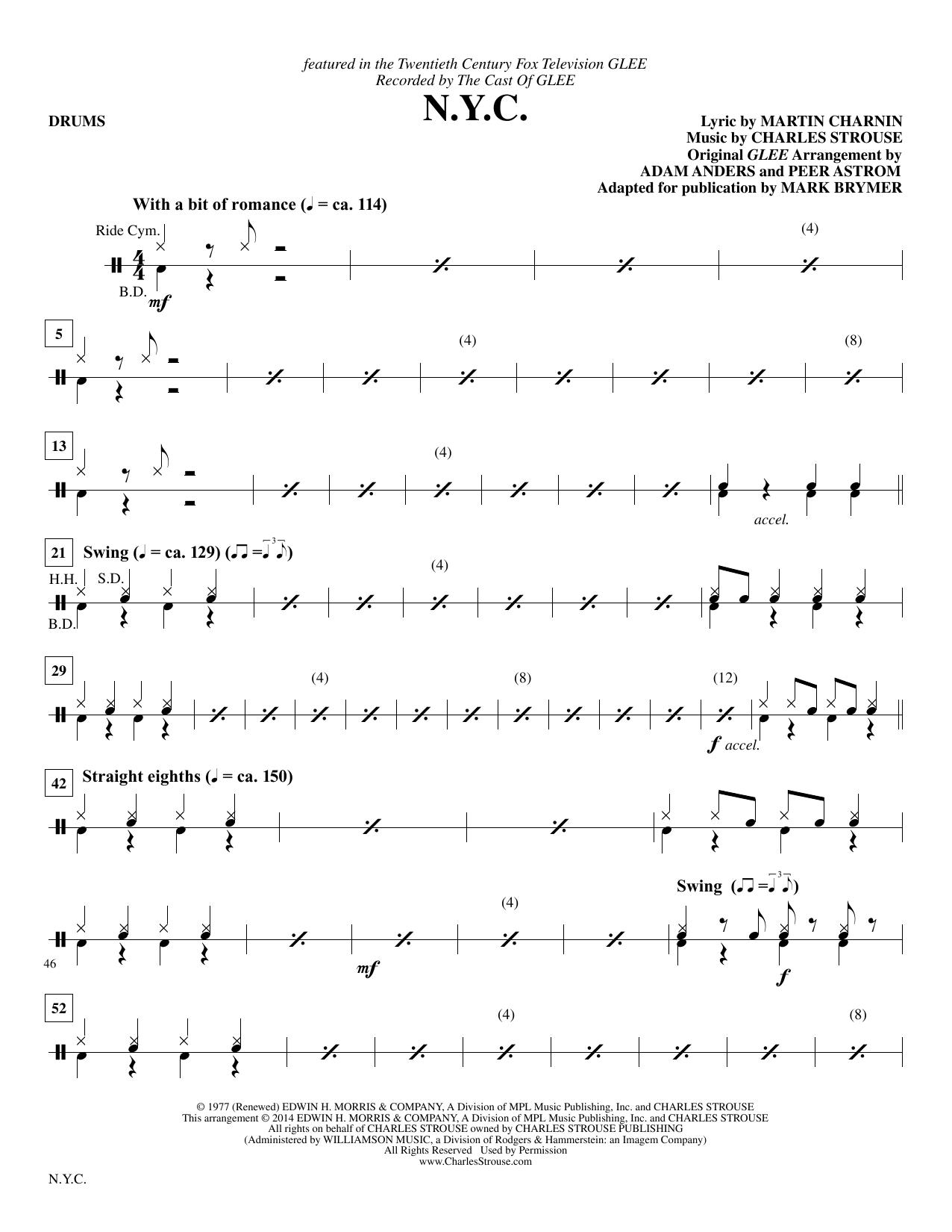 N.Y.C. - Drum Set (Choir Instrumental Pak)