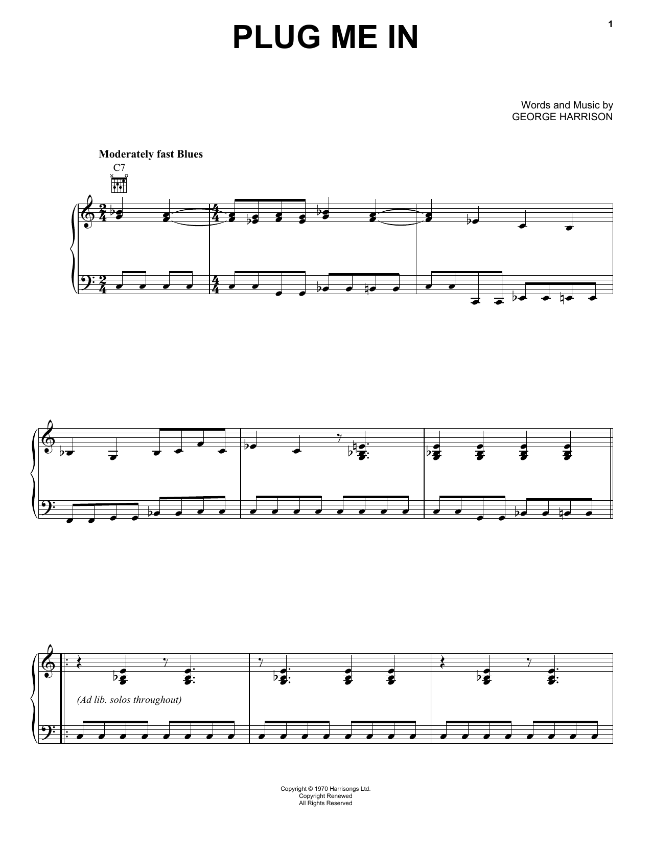 Plug Me In Sheet Music