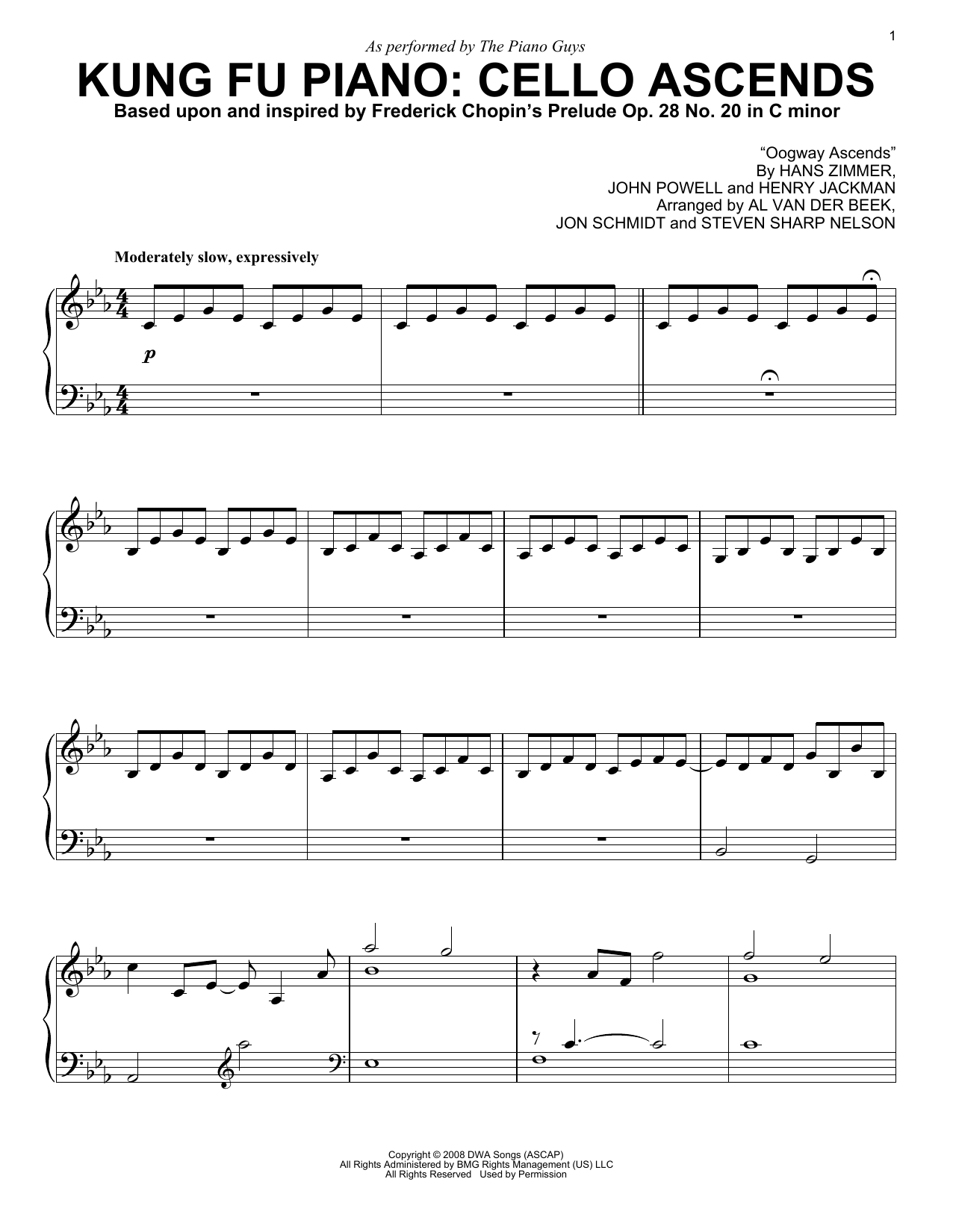 Kung Fu Piano Cello Ascends sheet music by The Piano Guys Piano –