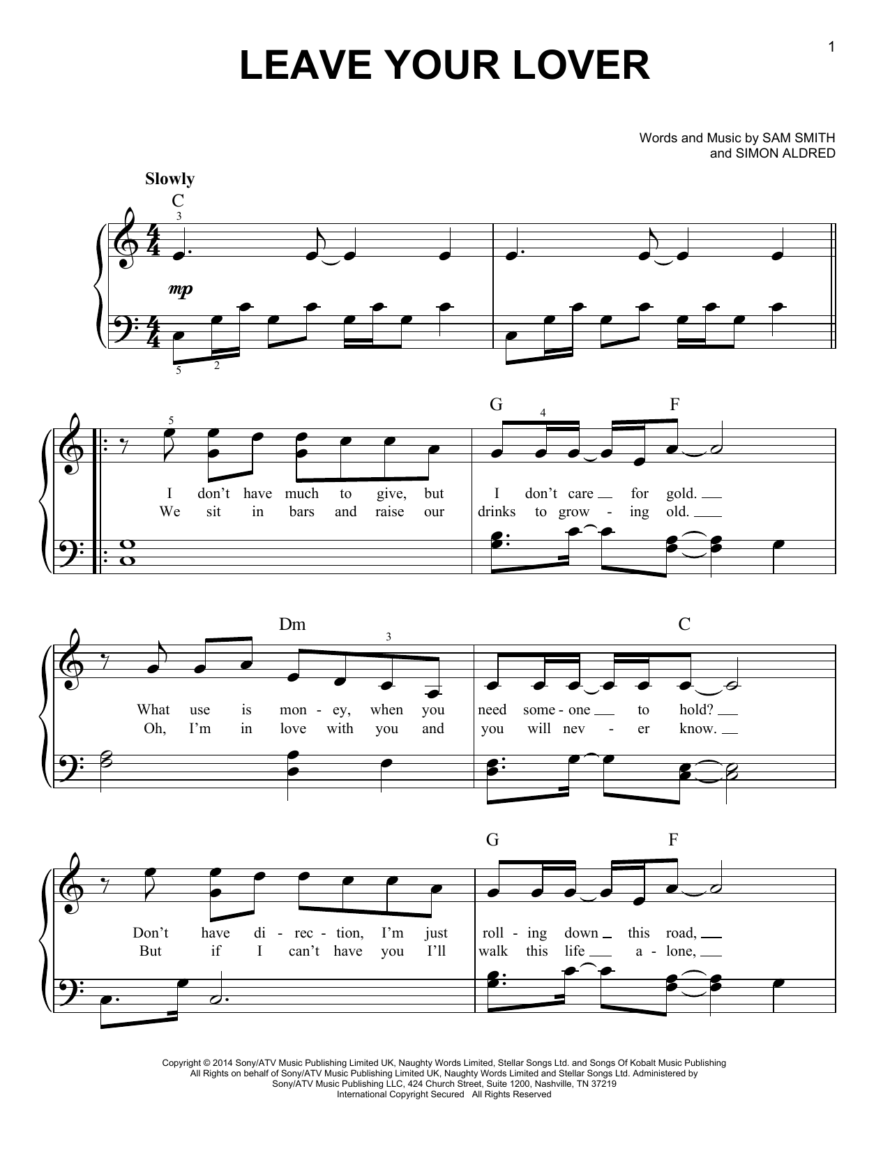 Leave Your Lover Sheet Music