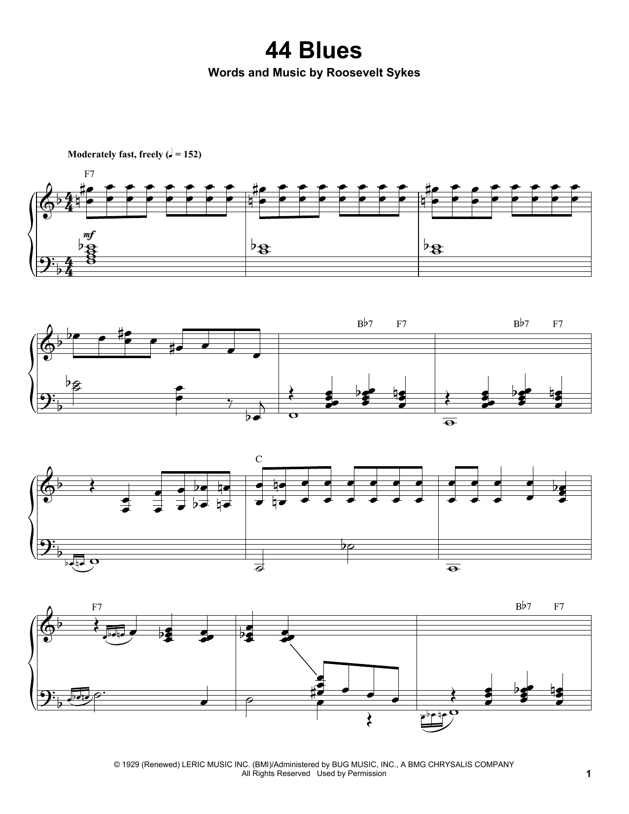 44 Blues Sheet Music