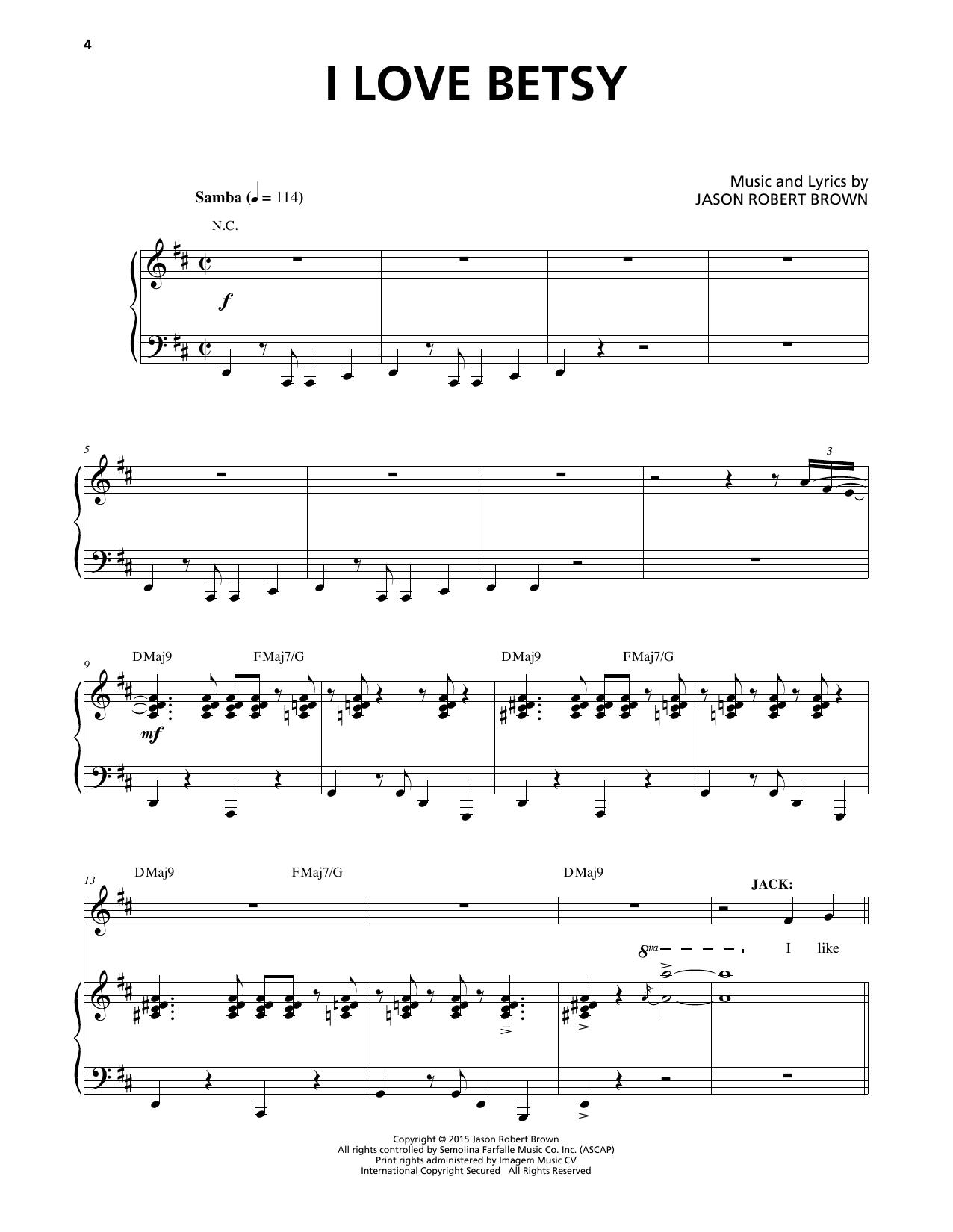 I Love Betsy Sheet Music