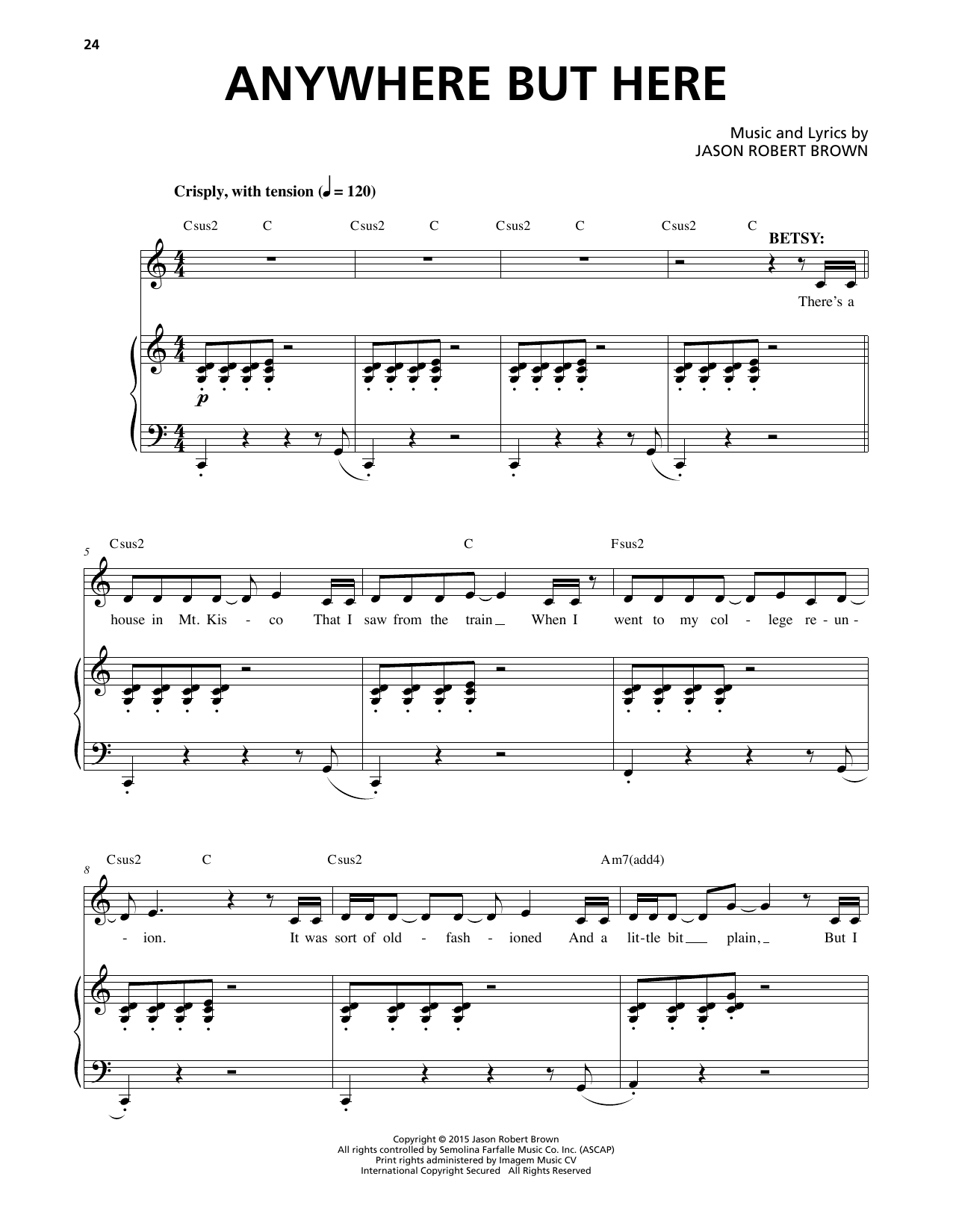 Anywhere But Here Sheet Music