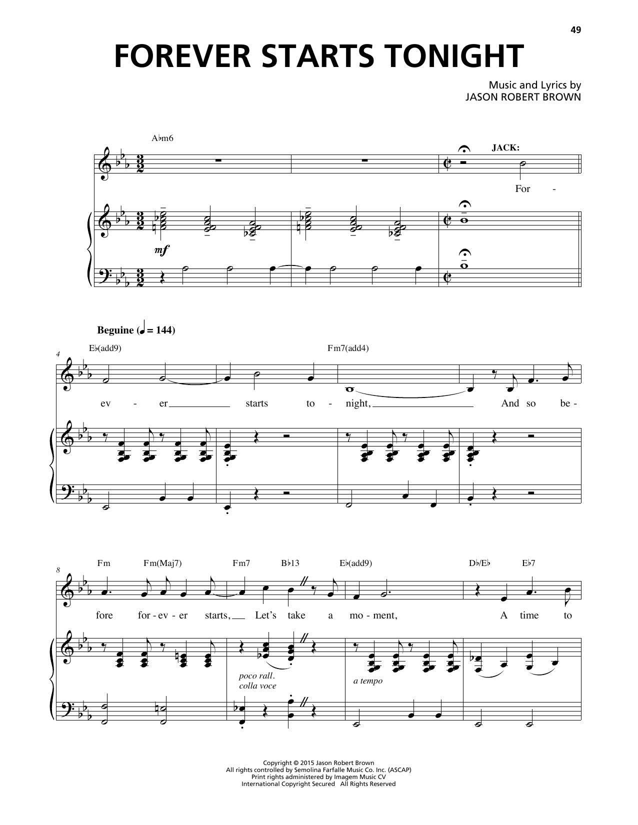 Forever Starts Tonight Sheet Music