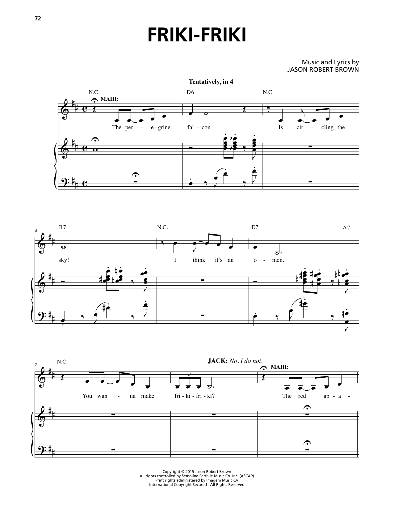 Friki-Friki Sheet Music